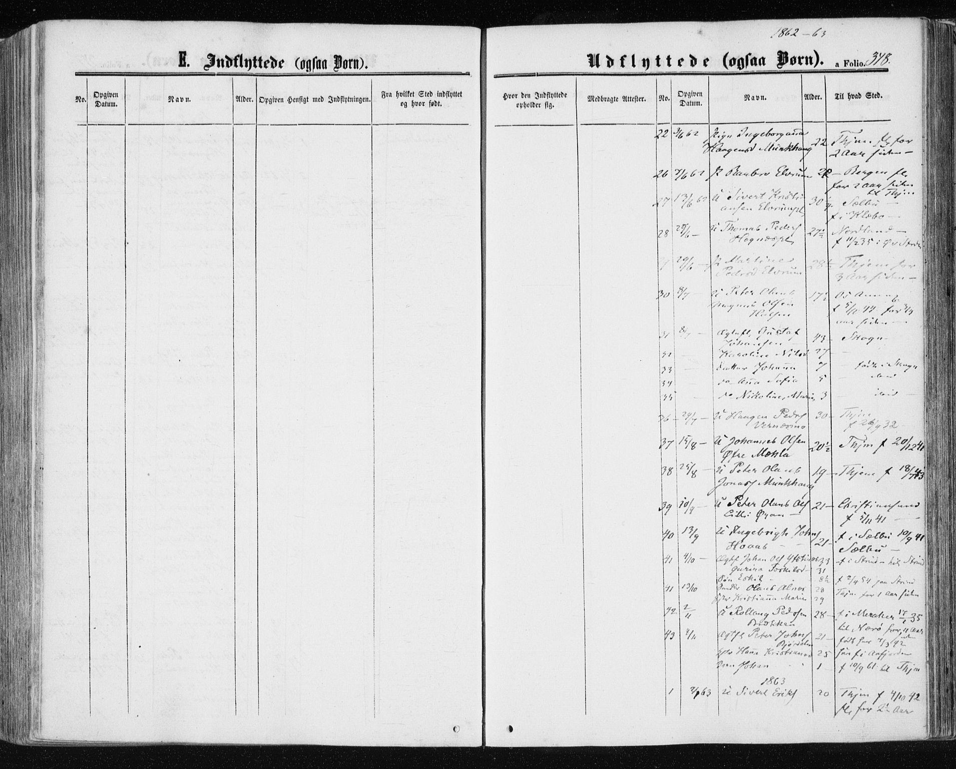 SAT, Ministerialprotokoller, klokkerbøker og fødselsregistre - Nord-Trøndelag, 709/L0075: Ministerialbok nr. 709A15, 1859-1870, s. 348