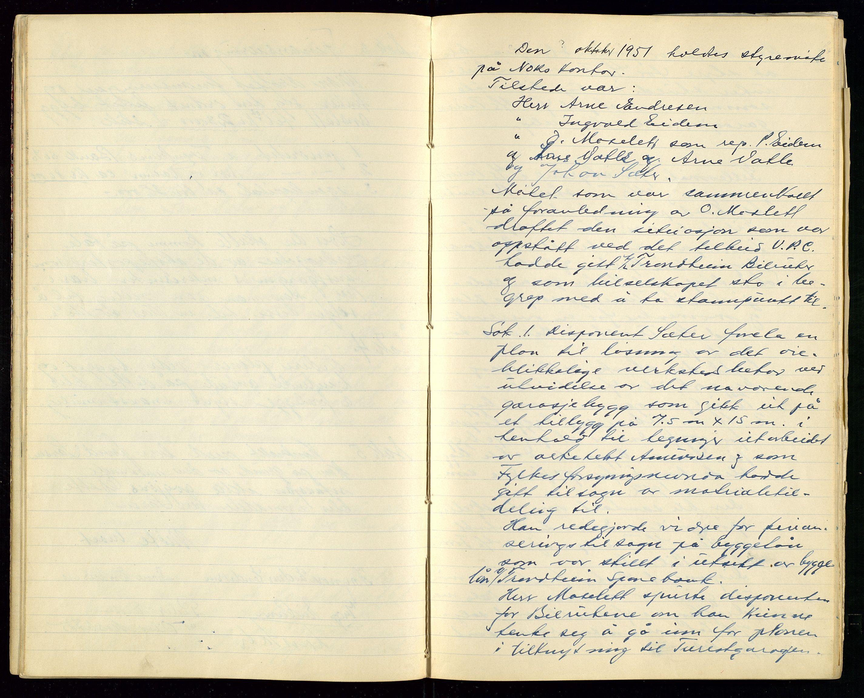 SAST, PA 1515 - Turistgarasjen A/S, A/L0001: Forhandlingsprotokoll, 1937-1958, s. 20