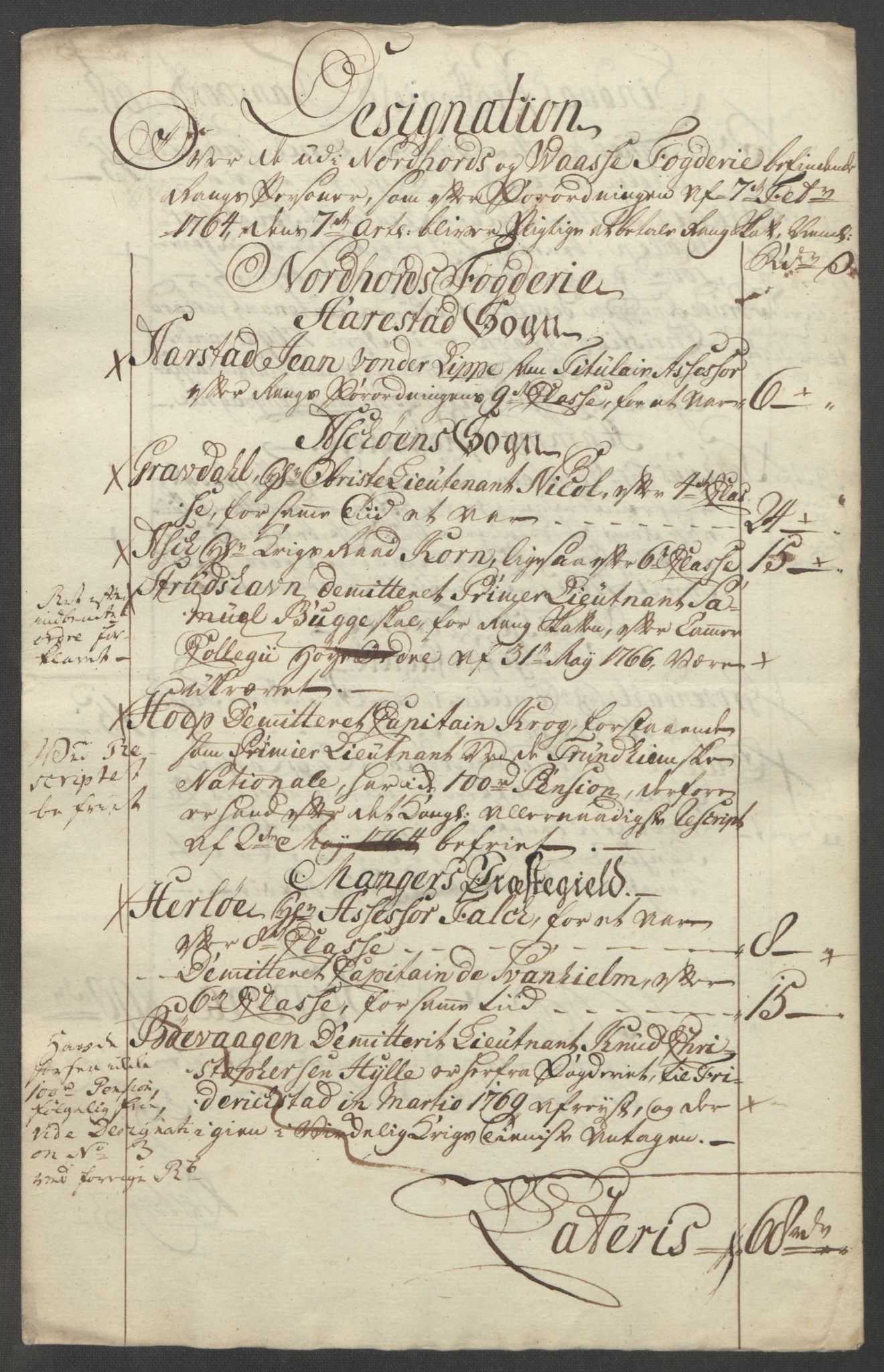 RA, Rentekammeret inntil 1814, Reviderte regnskaper, Fogderegnskap, R51/L3303: Ekstraskatten Nordhordland og Voss, 1762-1772, s. 358