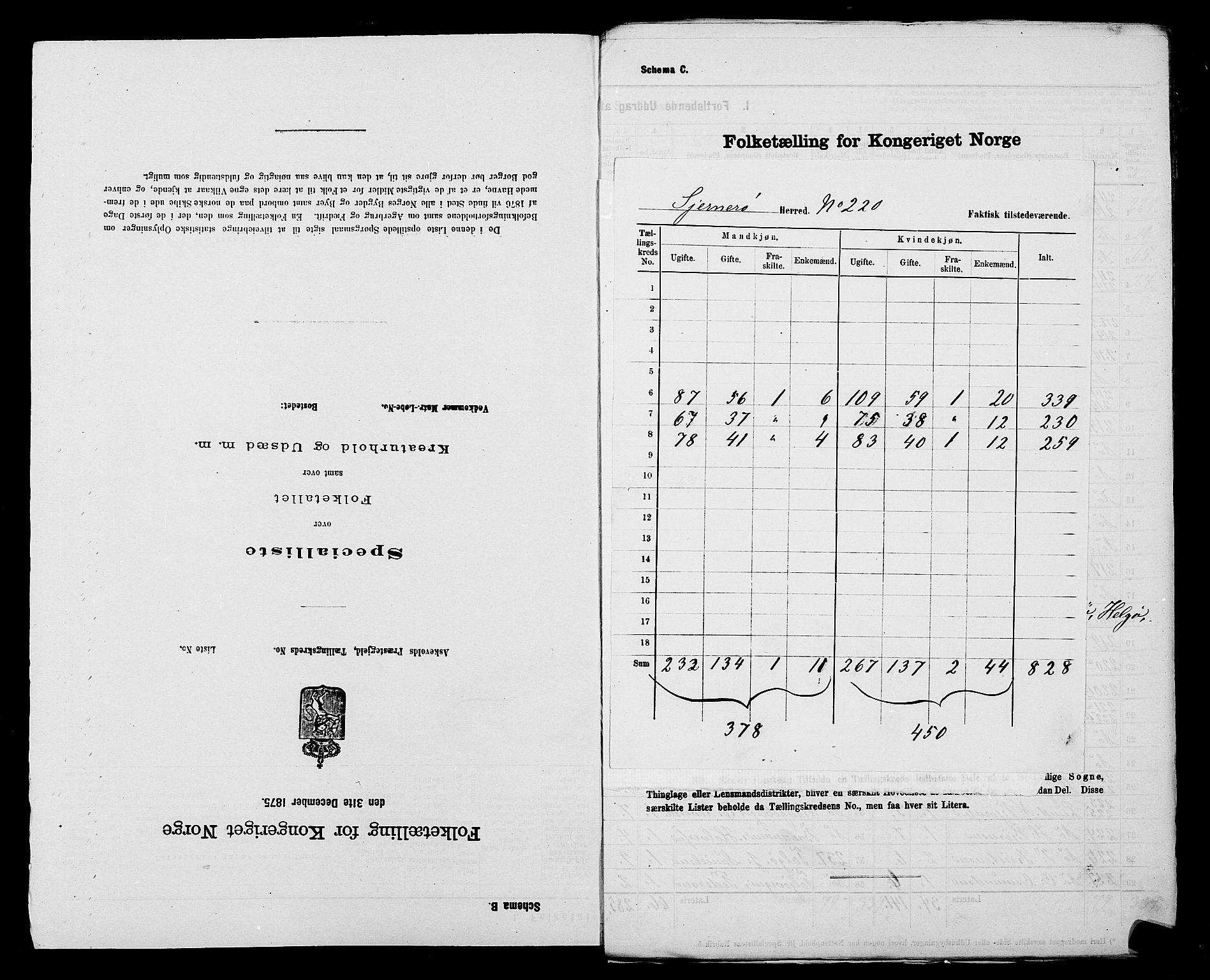 SAST, Folketelling 1875 for 1139P Nedstrand prestegjeld, 1875, s. 28