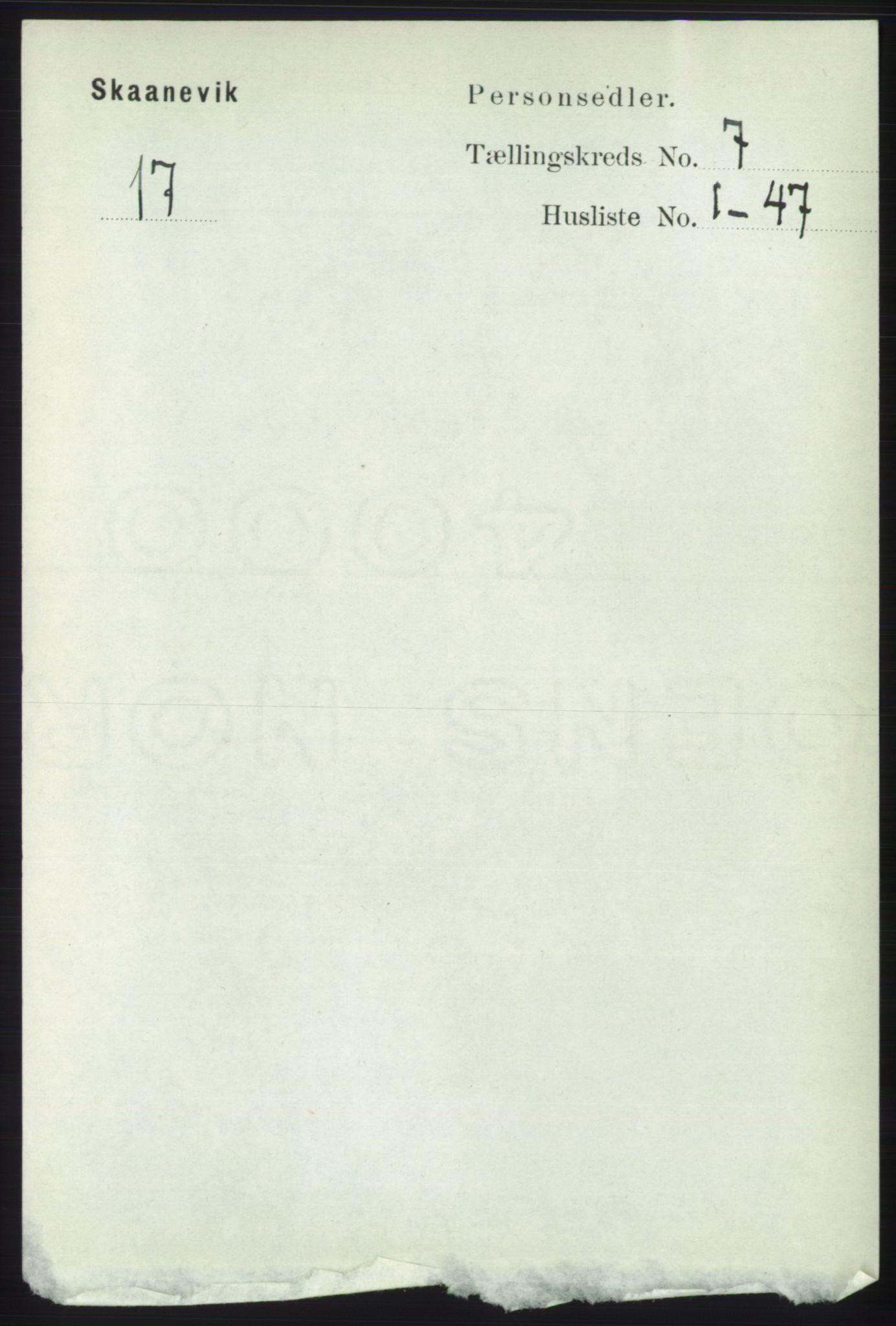 RA, Folketelling 1891 for 1212 Skånevik herred, 1891, s. 1884