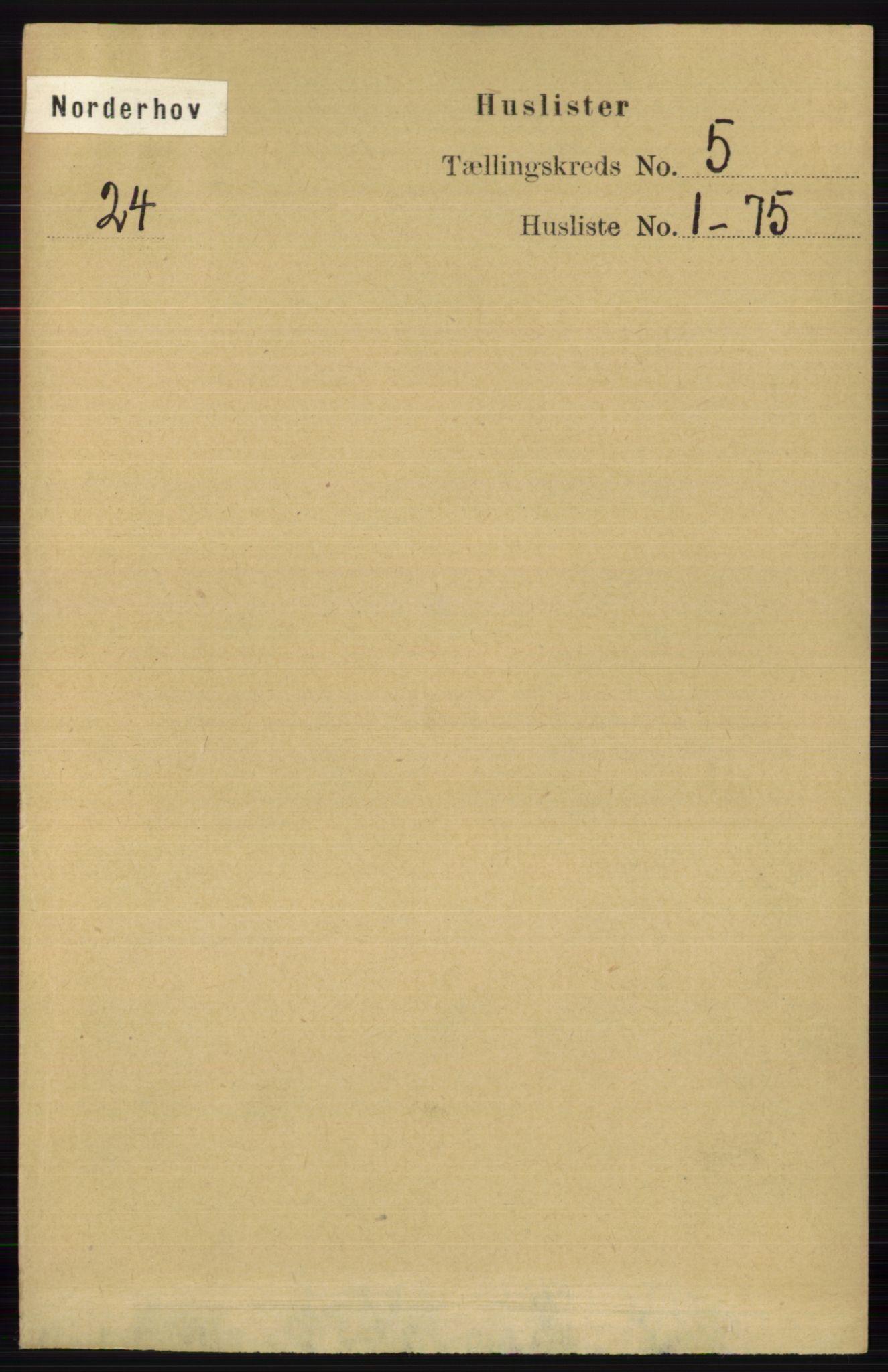 RA, Folketelling 1891 for 0613 Norderhov herred, 1891, s. 3440