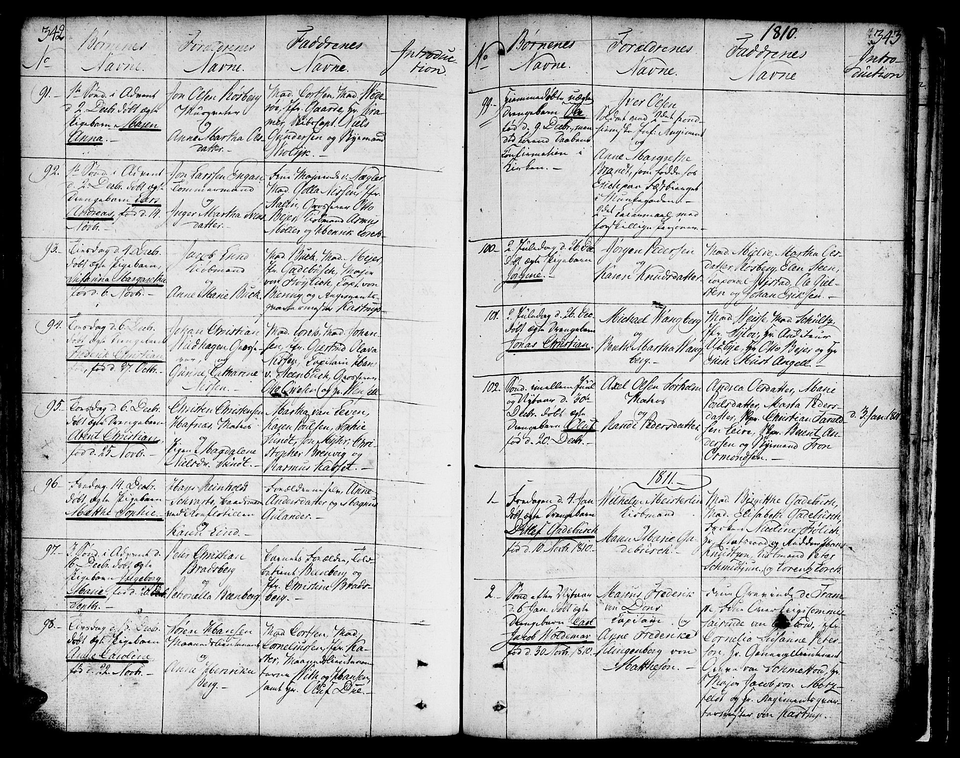 SAT, Ministerialprotokoller, klokkerbøker og fødselsregistre - Sør-Trøndelag, 602/L0104: Ministerialbok nr. 602A02, 1774-1814, s. 342-343