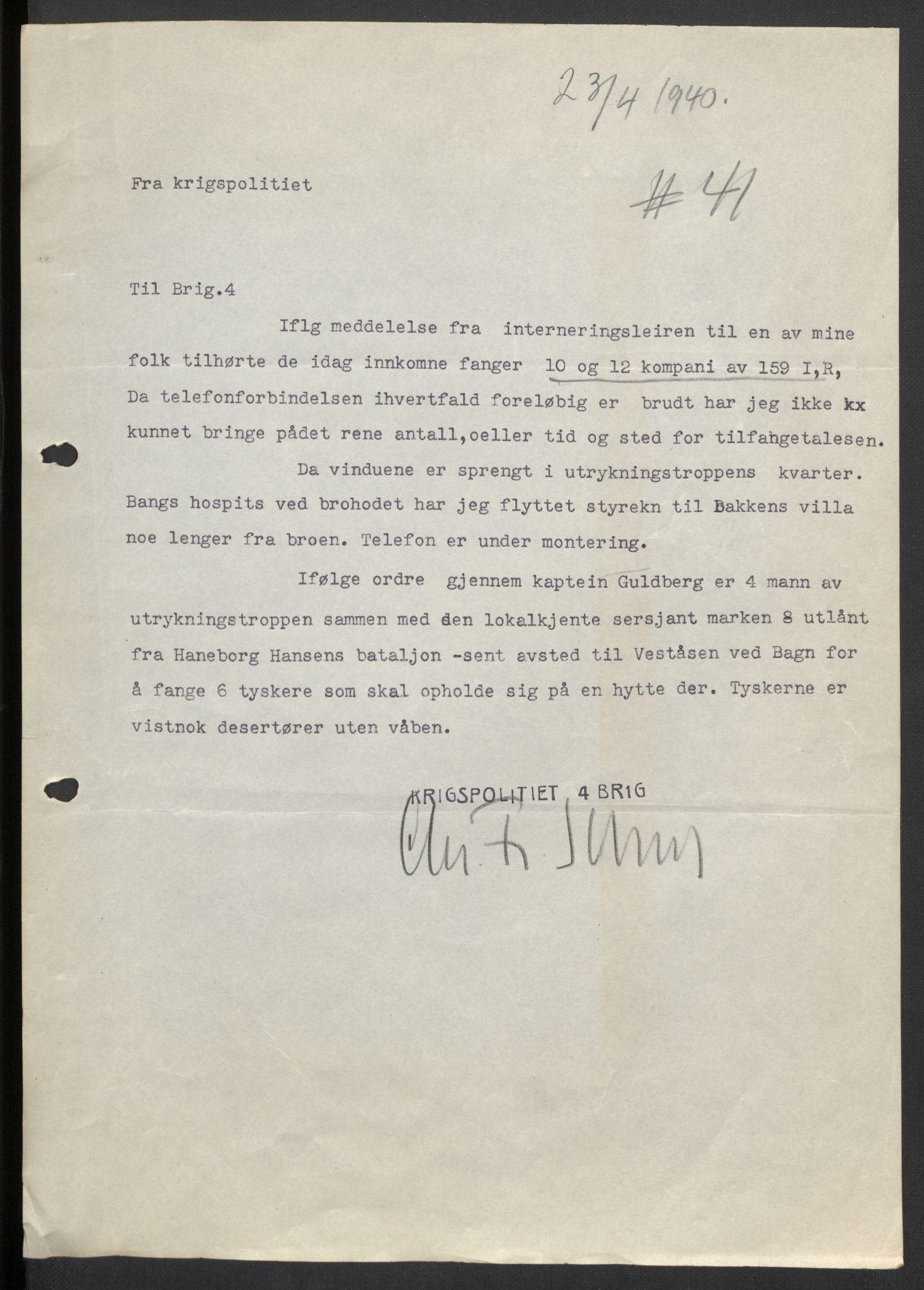 RA, Forsvaret, Forsvarets krigshistoriske avdeling, Y/Yb/L0104: II-C-11-430  -  4. Divisjon., 1940, s. 246