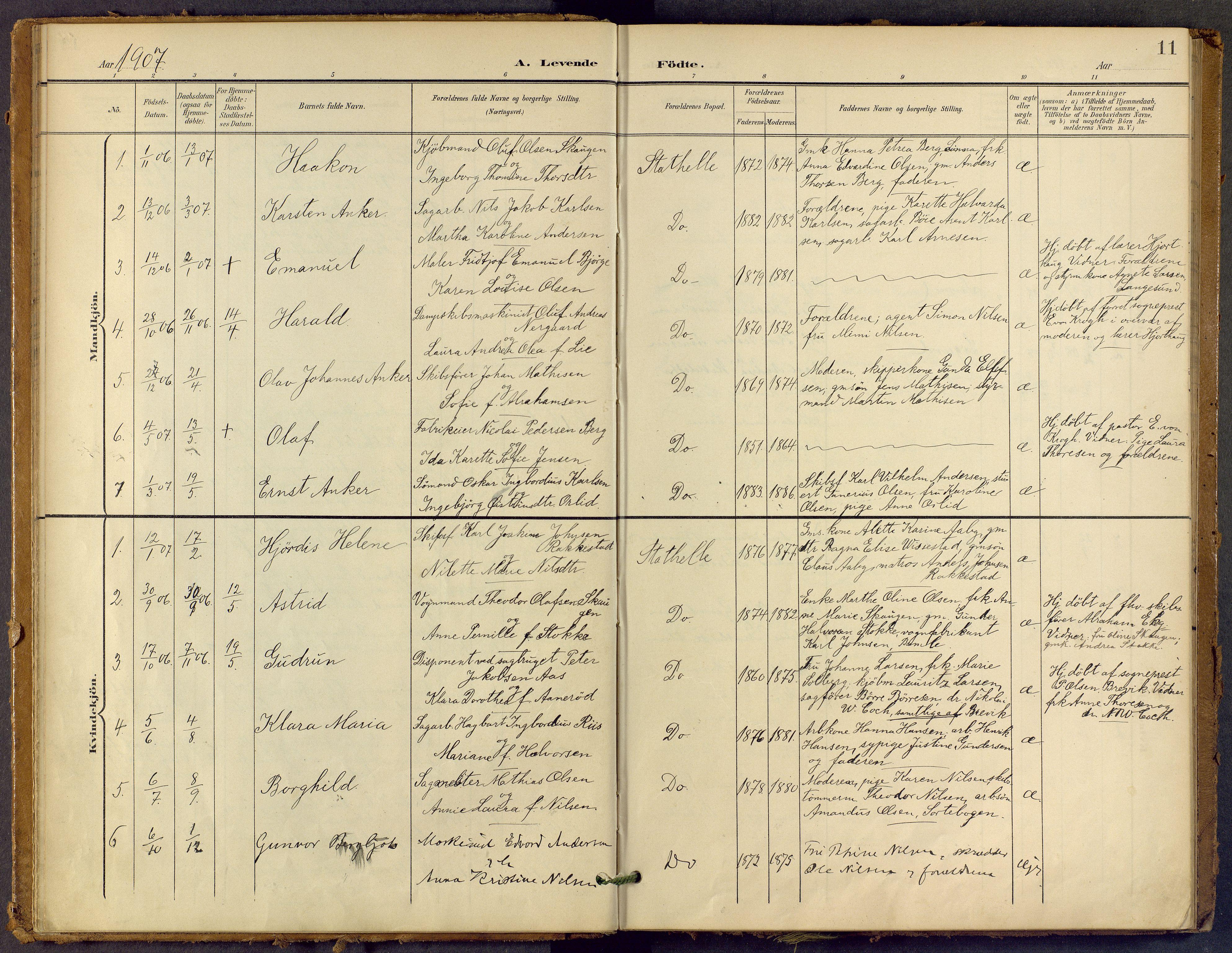SAKO, Bamble kirkebøker, F/Fb/L0002: Ministerialbok nr. II 2, 1900-1921, s. 11