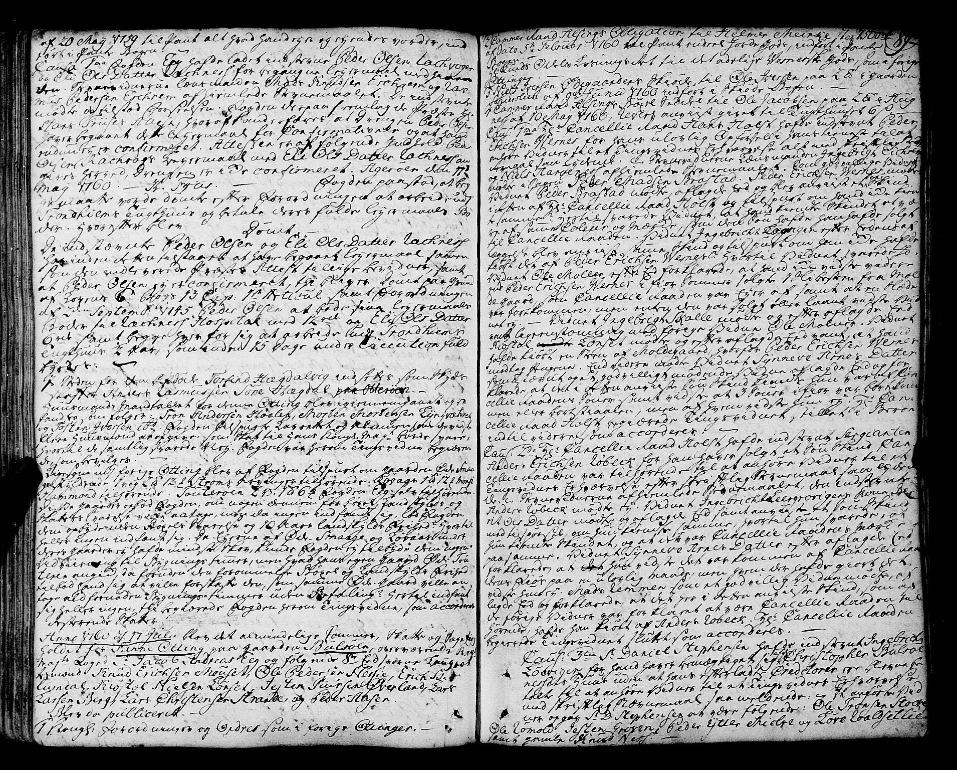 SAT, Romsdal sorenskriveri, 1/1A/L0014: Tingbok, 1757-1765, s. 89