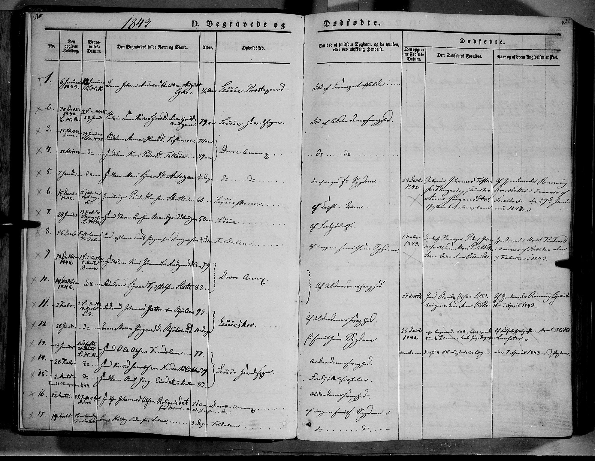 SAH, Lesja prestekontor, Ministerialbok nr. 6B, 1843-1854, s. 626-627