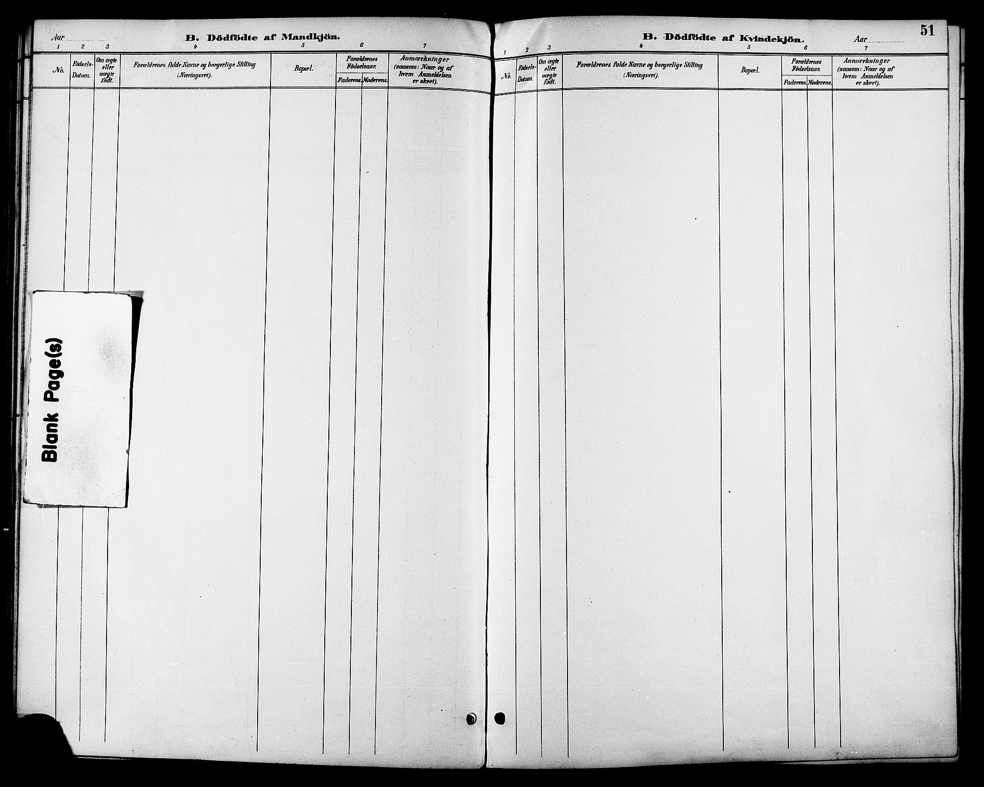 SAT, Ministerialprotokoller, klokkerbøker og fødselsregistre - Sør-Trøndelag, 685/L0978: Klokkerbok nr. 685C03, 1891-1907, s. 51