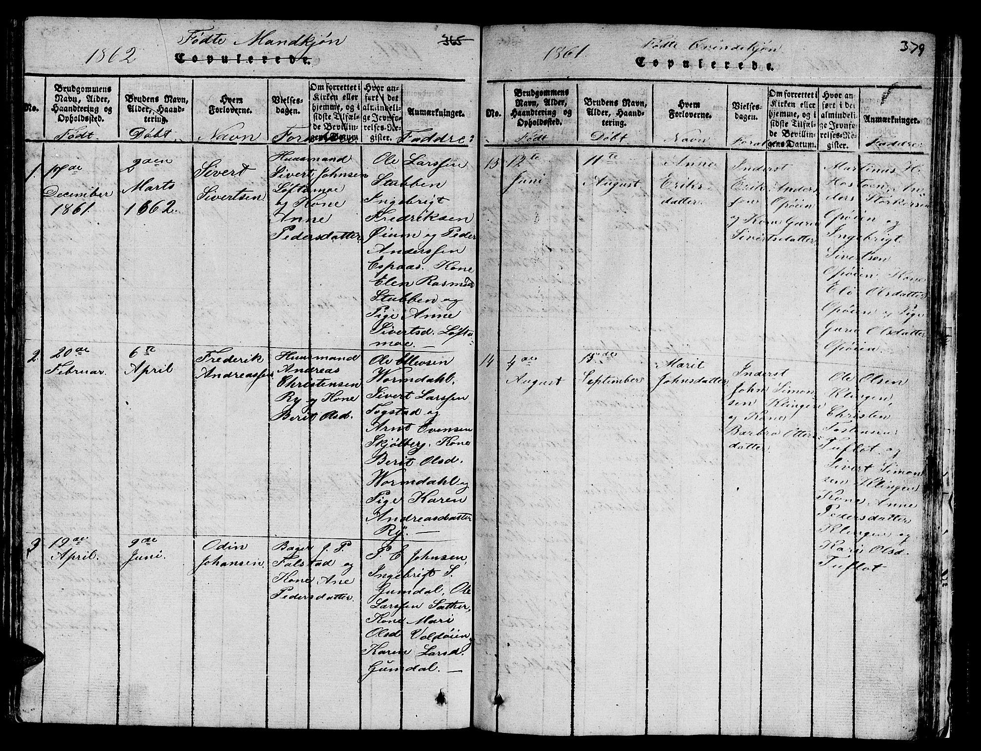 SAT, Ministerialprotokoller, klokkerbøker og fødselsregistre - Sør-Trøndelag, 671/L0842: Klokkerbok nr. 671C01, 1816-1867, s. 378-379