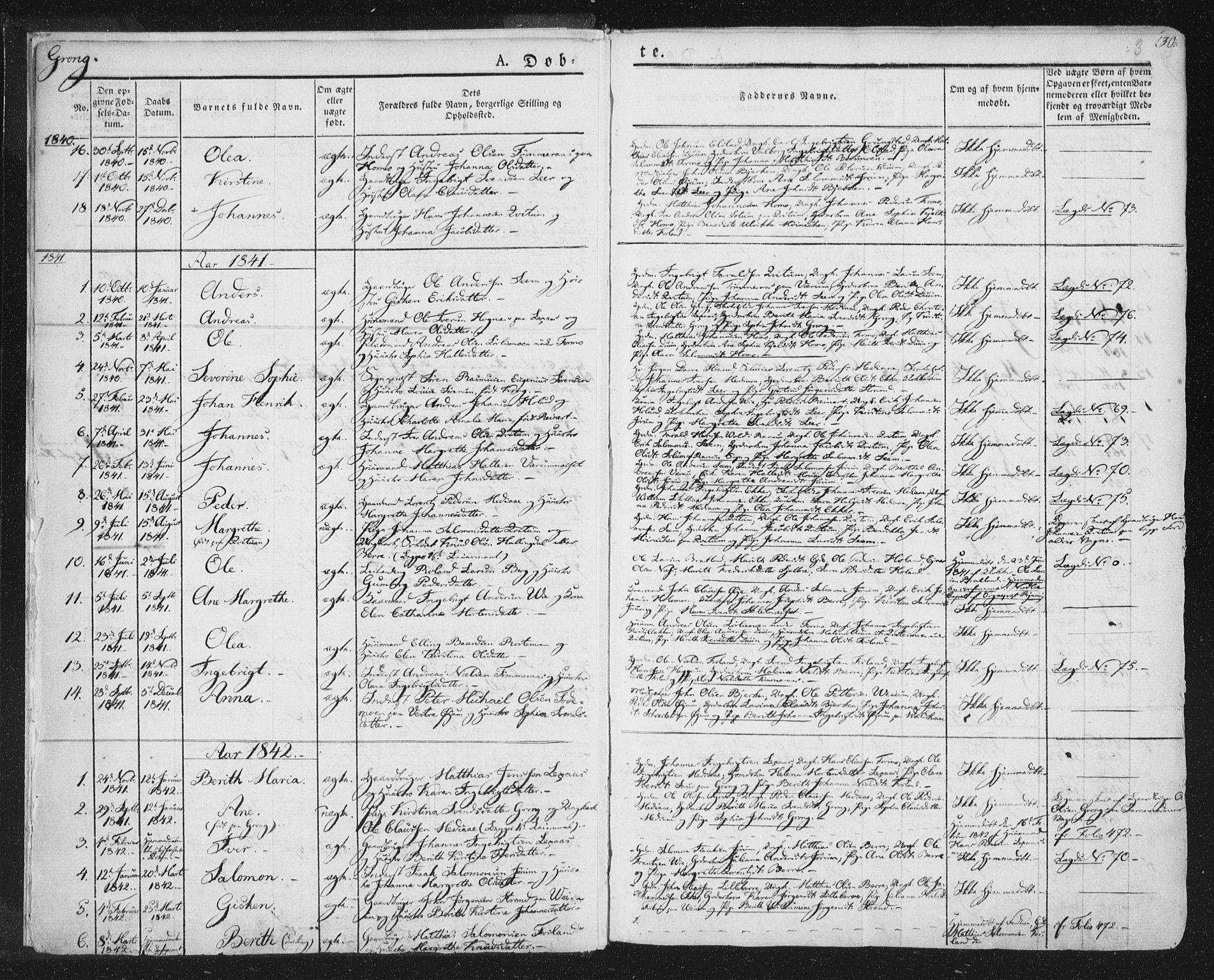 SAT, Ministerialprotokoller, klokkerbøker og fødselsregistre - Nord-Trøndelag, 758/L0513: Ministerialbok nr. 758A02 /1, 1839-1868, s. 3