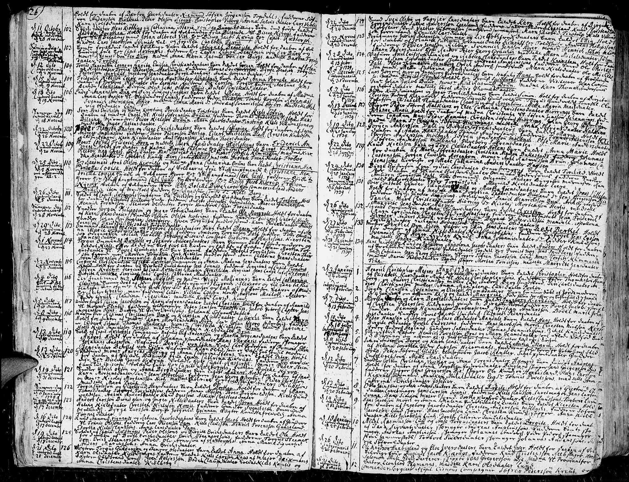 SAK, Kristiansand domprosti, F/Fa/L0001: Ministerialbok nr. A 1, 1734-1793, s. 26-27