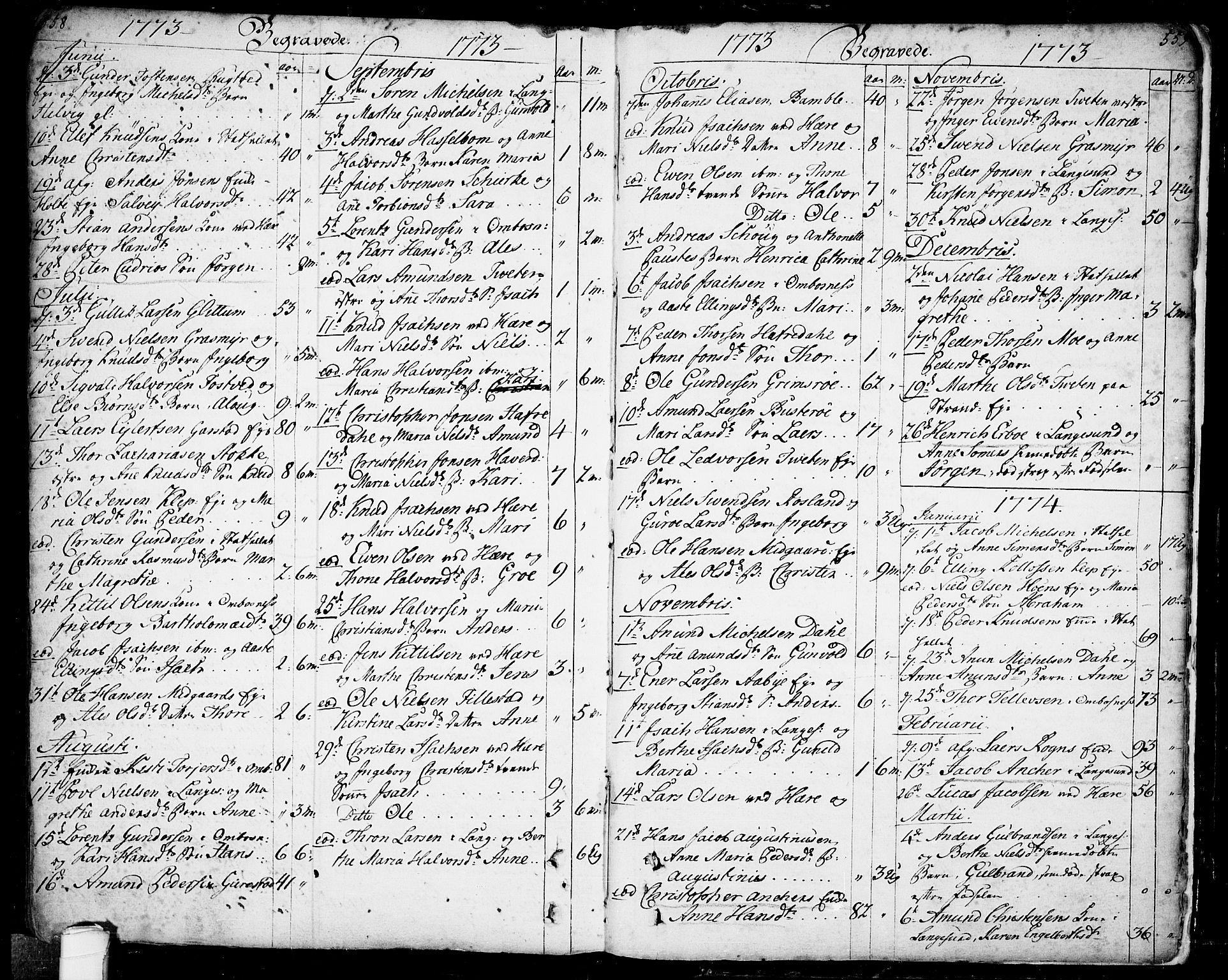 SAKO, Bamble kirkebøker, F/Fa/L0001: Ministerialbok nr. I 1, 1702-1774, s. 558-559