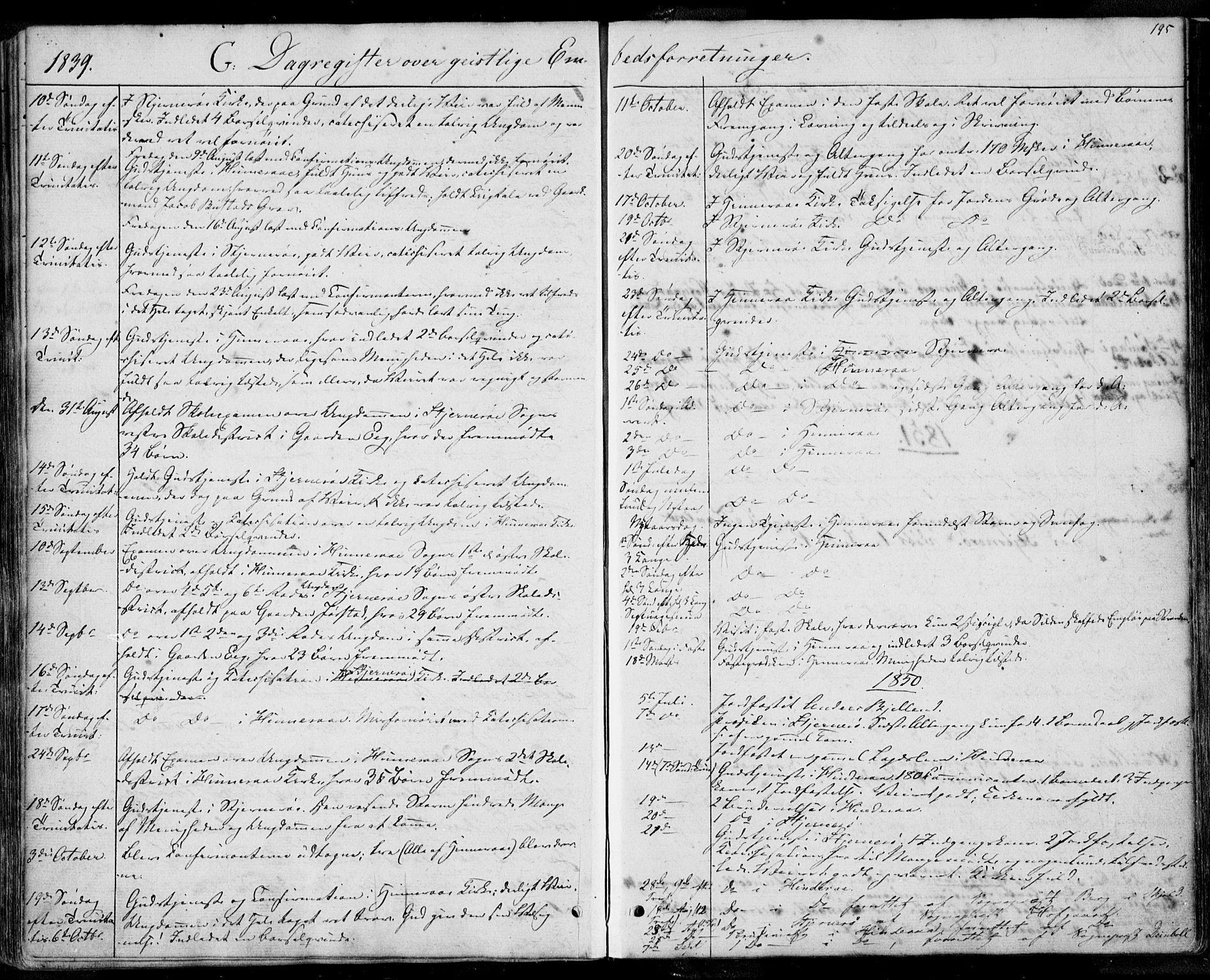 SAST, Nedstrand sokneprestkontor, IV: Ministerialbok nr. A 8, 1839-1860, s. 195