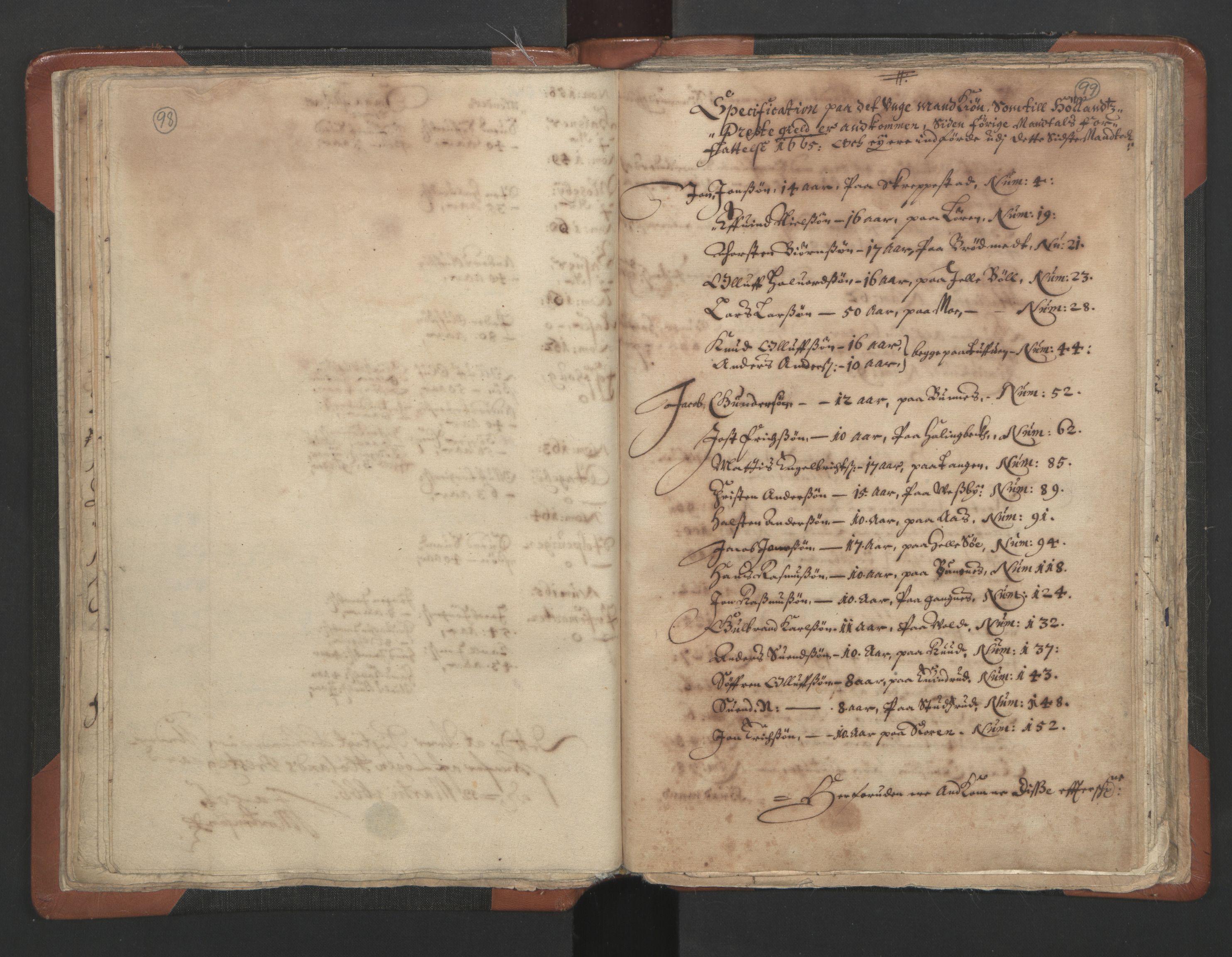RA, Sogneprestenes manntall 1664-1666, nr. 3: Nedre Romerike prosti, 1664-1666, s. 98-99