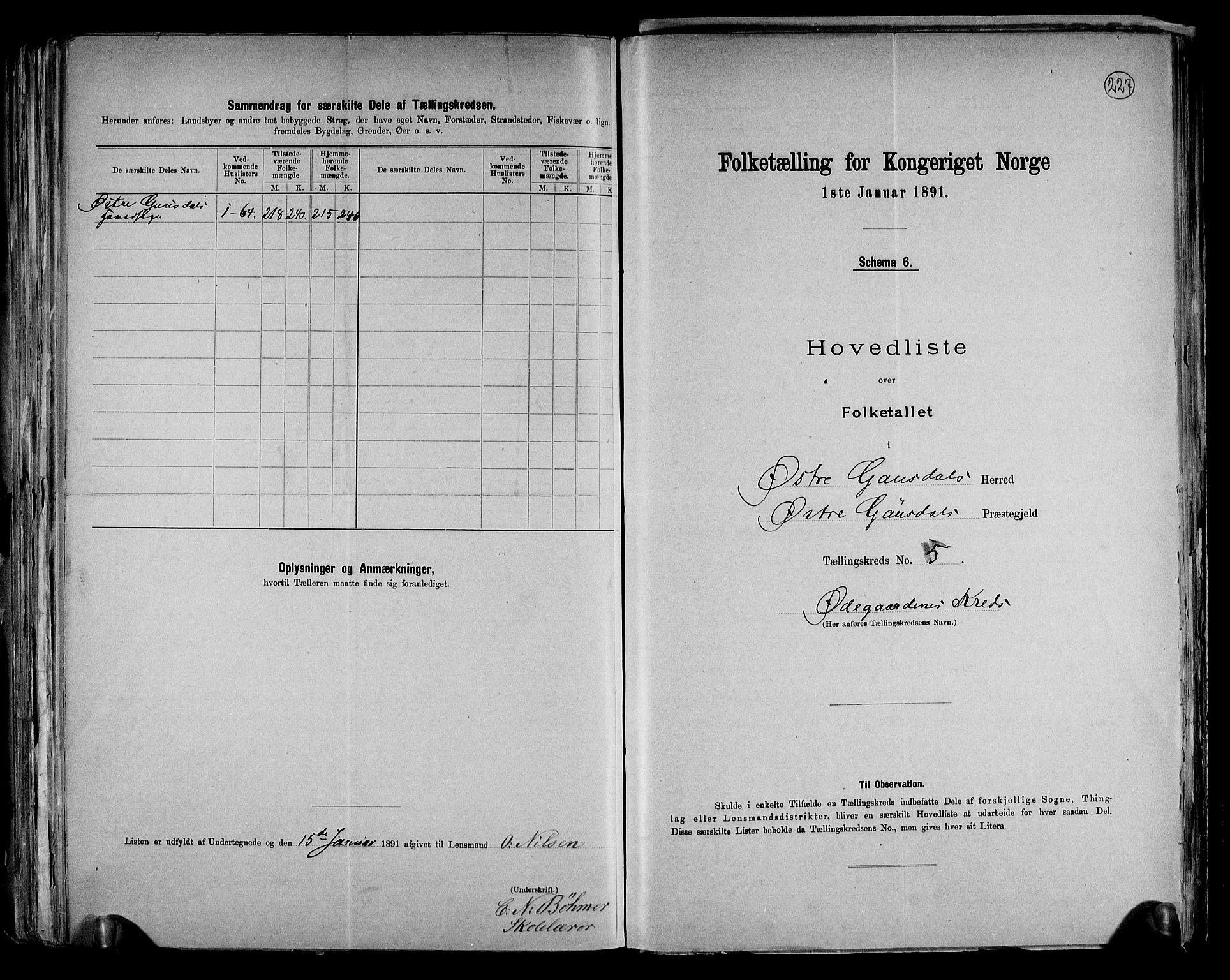 RA, Folketelling 1891 for 0522 Østre Gausdal herred, 1891, s. 18