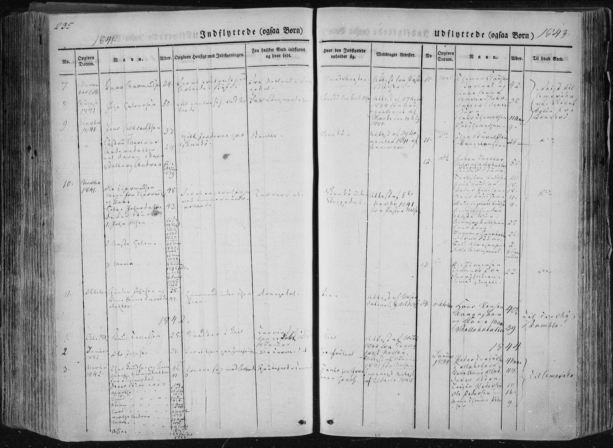 SAKO, Sannidal kirkebøker, F/Fa/L0007: Ministerialbok nr. 7, 1831-1854, s. 235