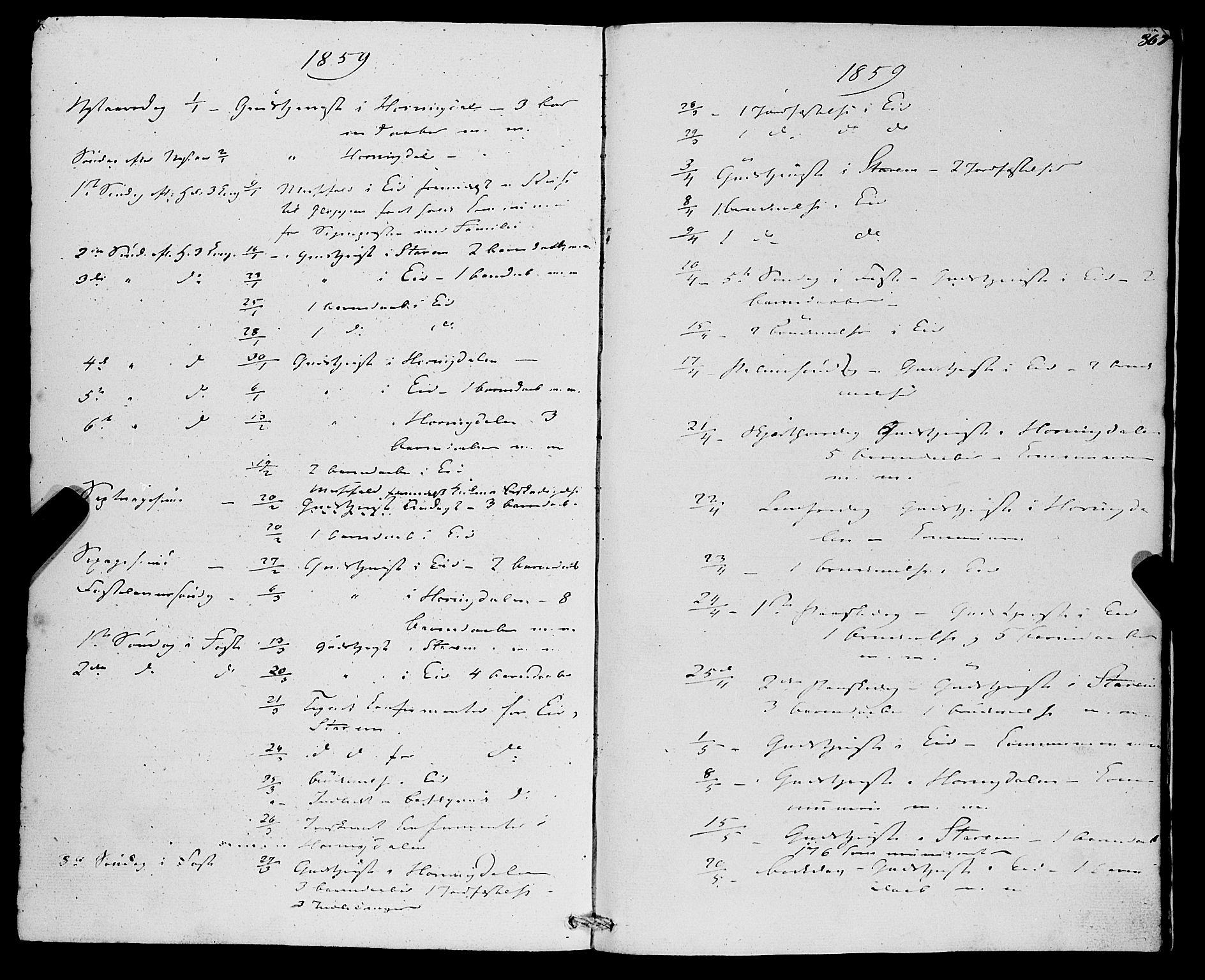 SAB, Eid Sokneprestembete, H/Haa: Ministerialbok nr. A 8, 1858-1860, s. 367
