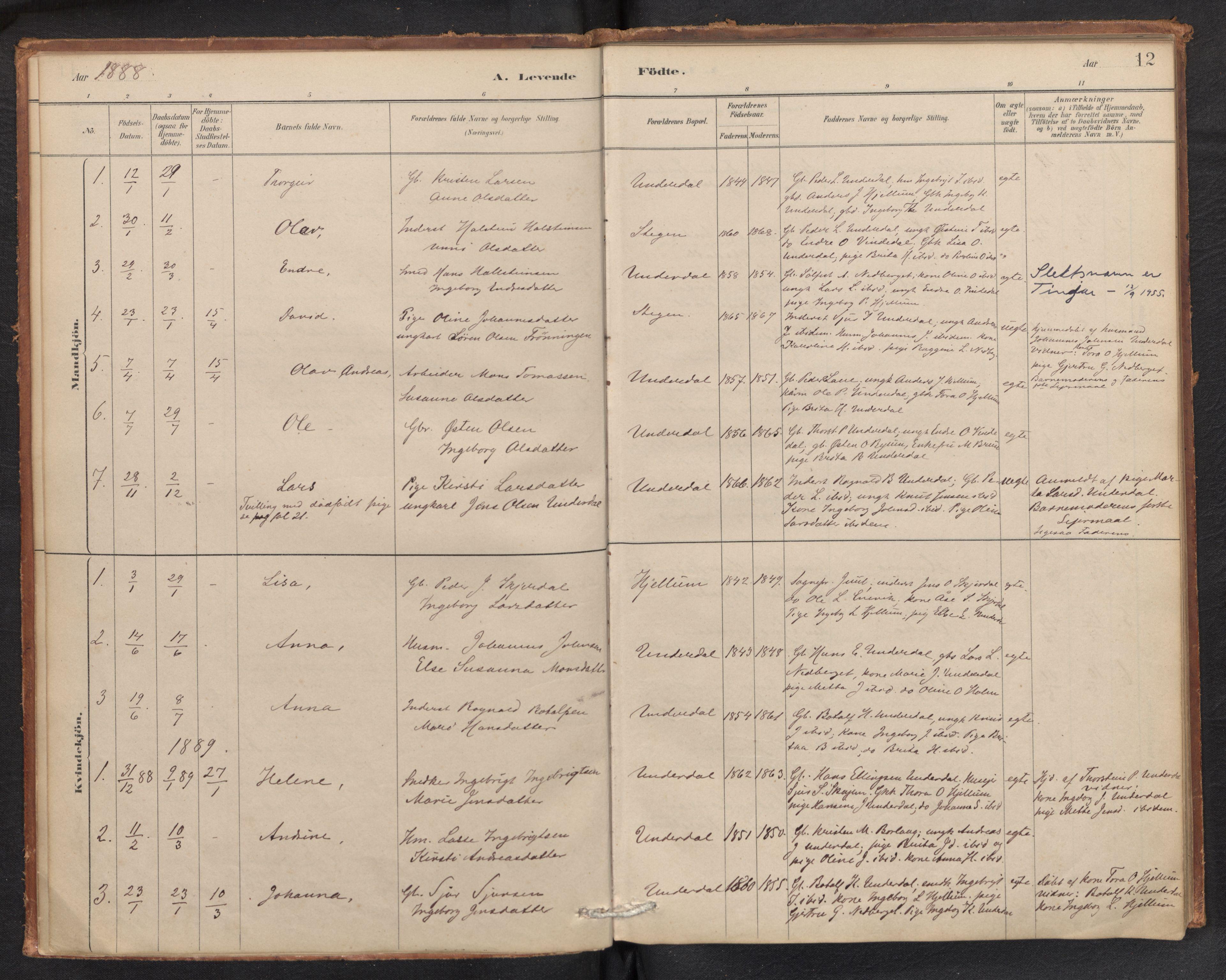 SAB, Aurland Sokneprestembete*, Ministerialbok nr. E 1, 1880-1907, s. 11b-12a