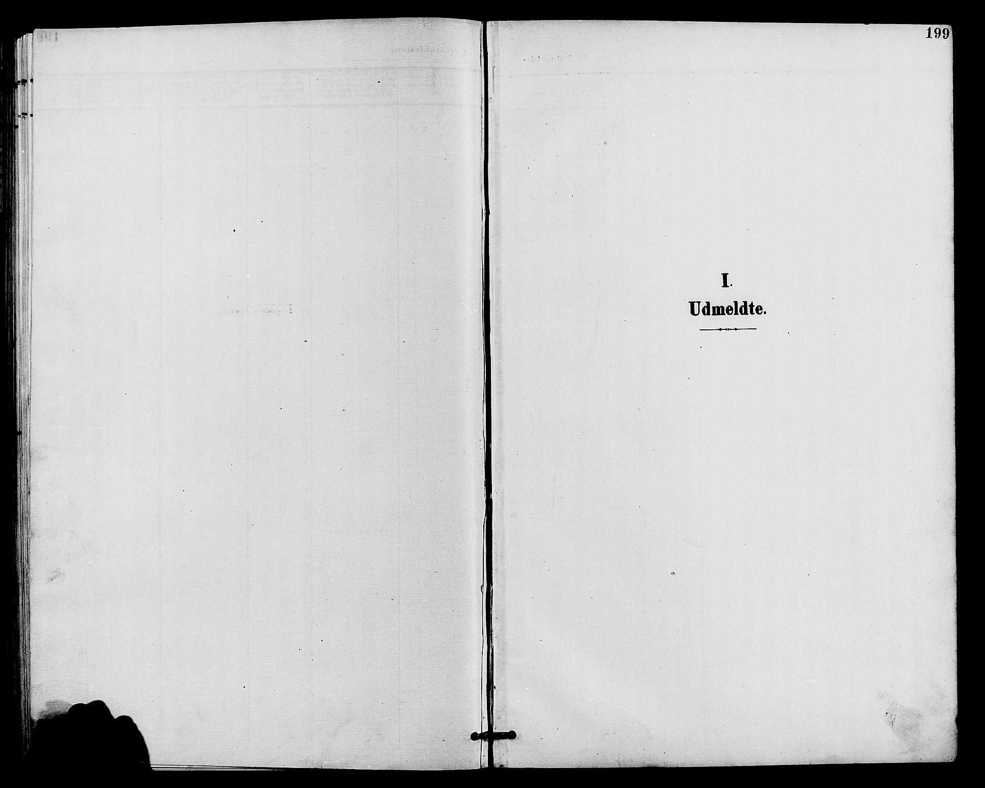 SAH, Vardal prestekontor, H/Ha/Hab/L0011: Klokkerbok nr. 11, 1899-1913, s. 199