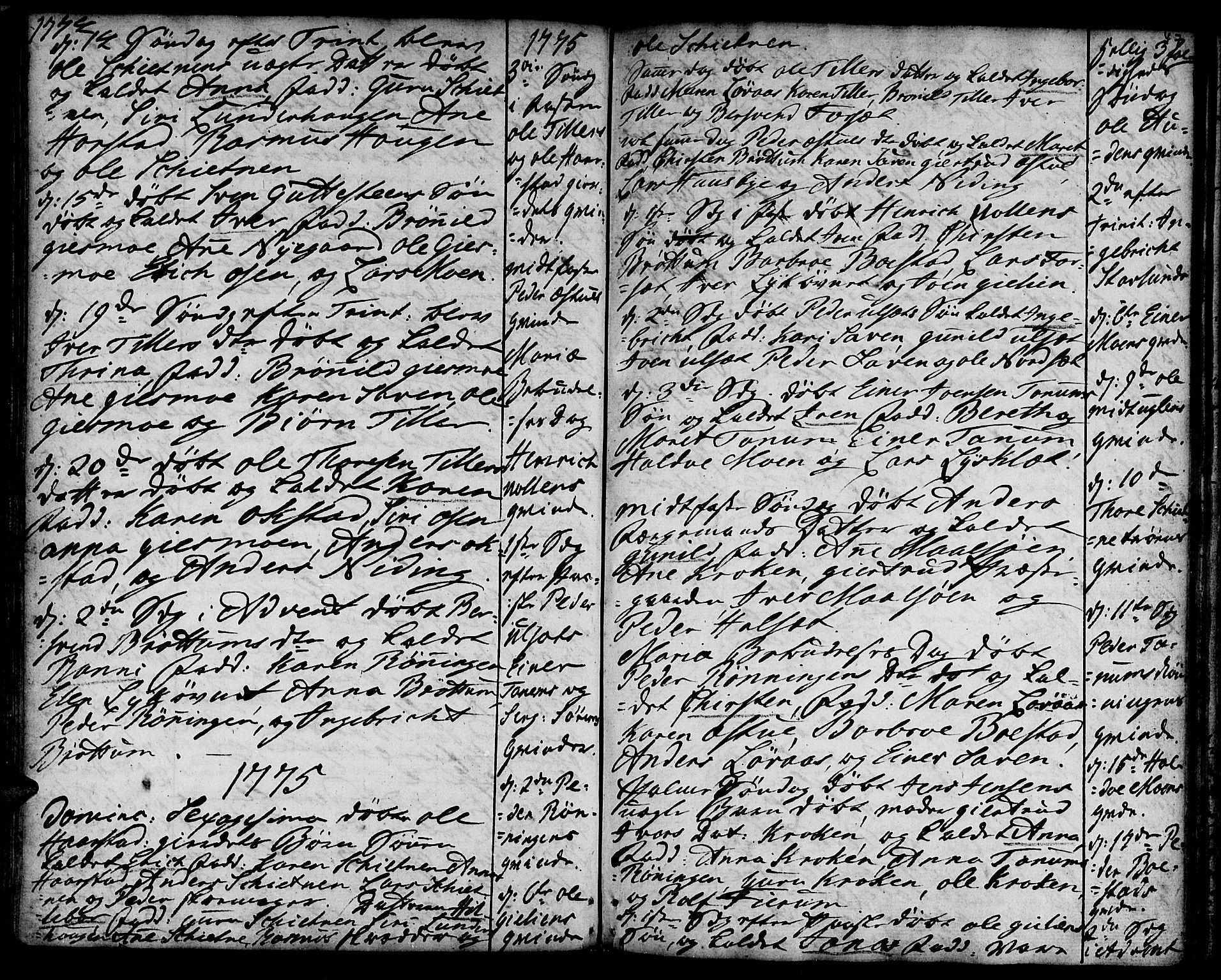 SAT, Ministerialprotokoller, klokkerbøker og fødselsregistre - Sør-Trøndelag, 618/L0437: Ministerialbok nr. 618A02, 1749-1782, s. 47