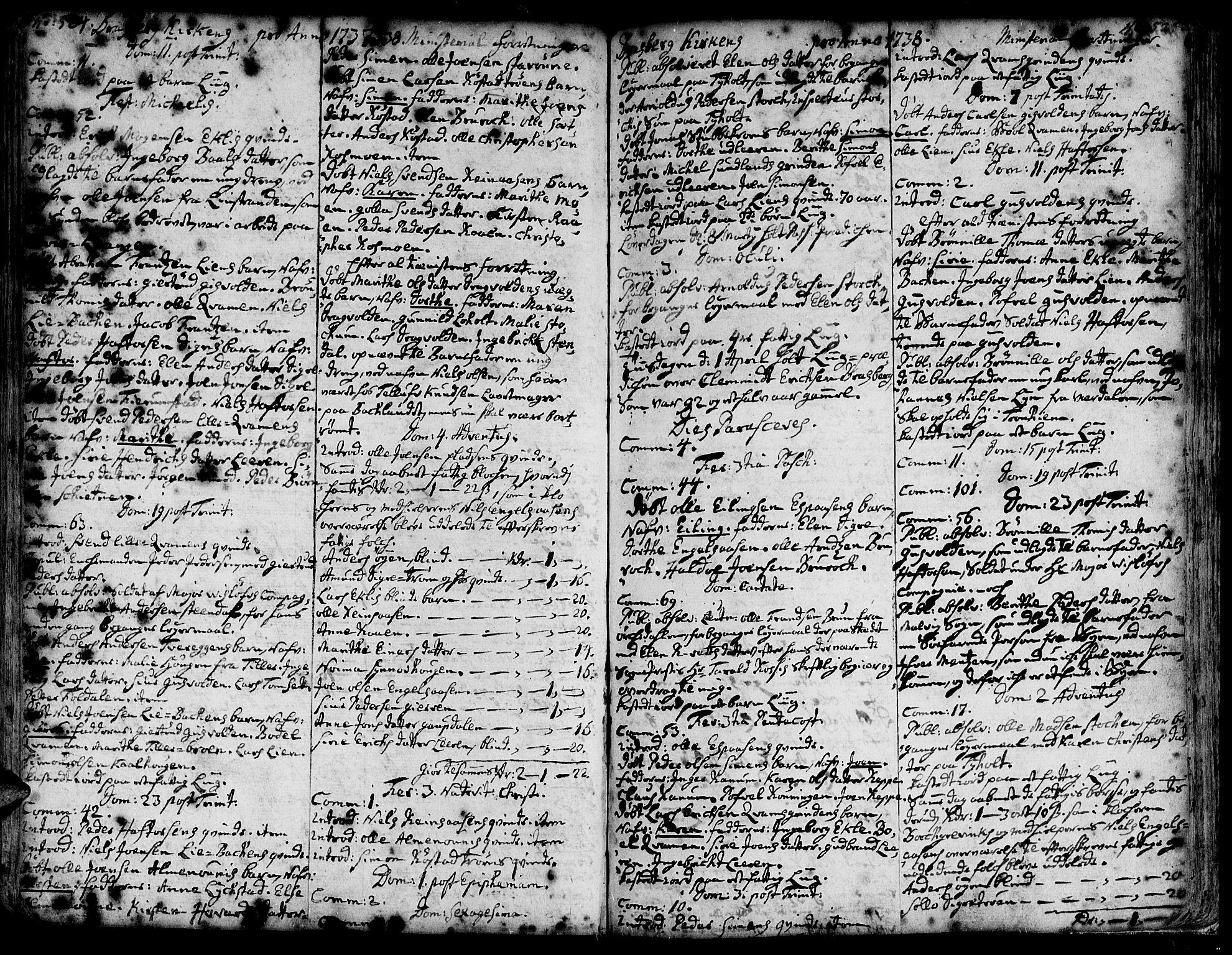 SAT, Ministerialprotokoller, klokkerbøker og fødselsregistre - Sør-Trøndelag, 606/L0278: Ministerialbok nr. 606A01 /4, 1727-1780, s. 524-525