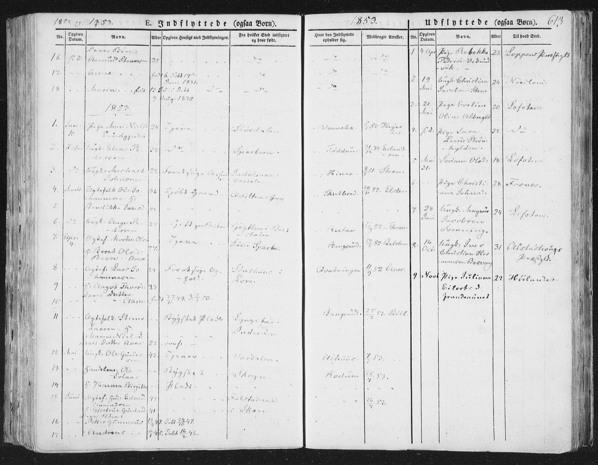 SAT, Ministerialprotokoller, klokkerbøker og fødselsregistre - Nord-Trøndelag, 764/L0552: Ministerialbok nr. 764A07b, 1824-1865, s. 613