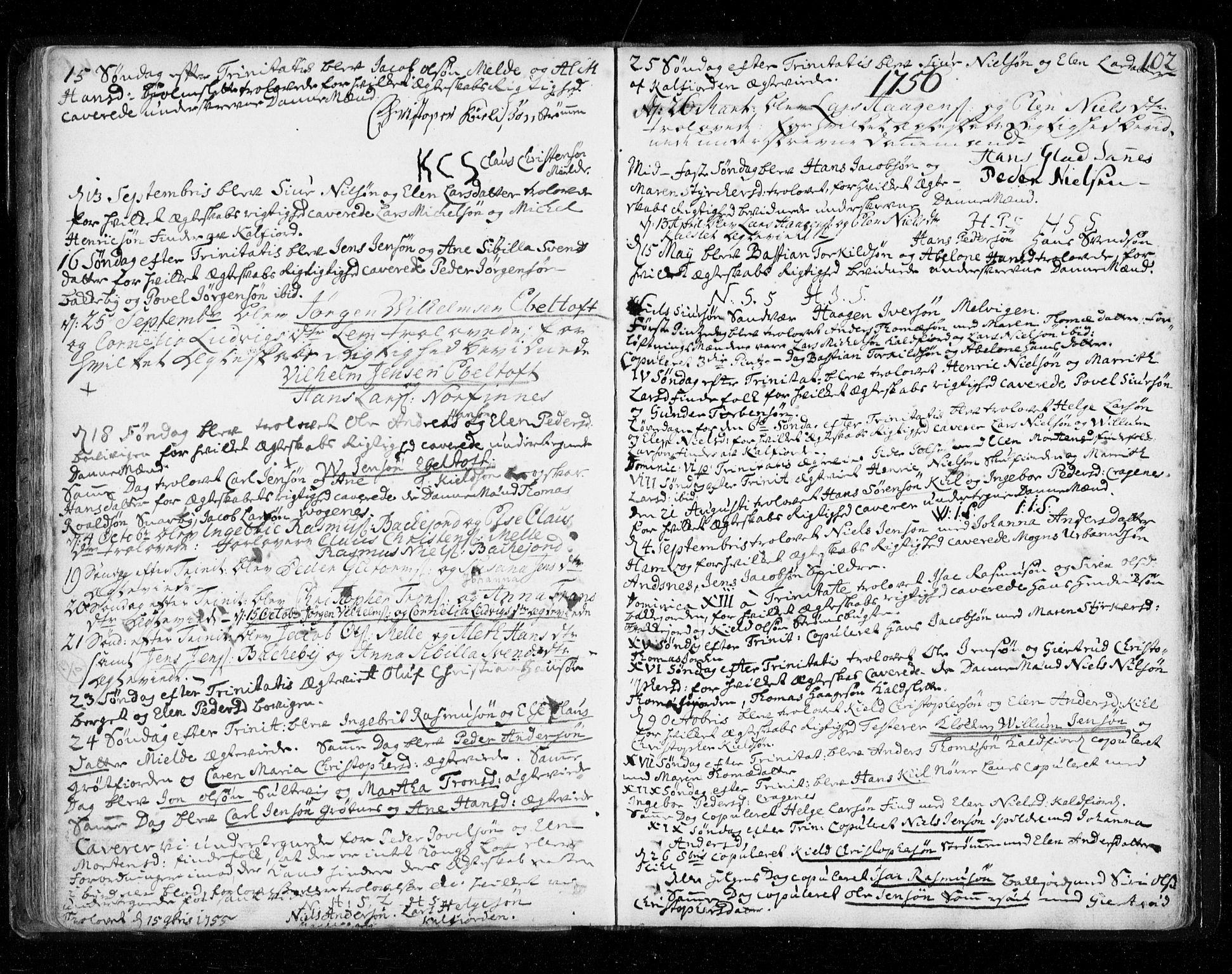 SATØ, Tromsø sokneprestkontor/stiftsprosti/domprosti, G/Ga/L0002kirke: Ministerialbok nr. 2, 1753-1778, s. 102