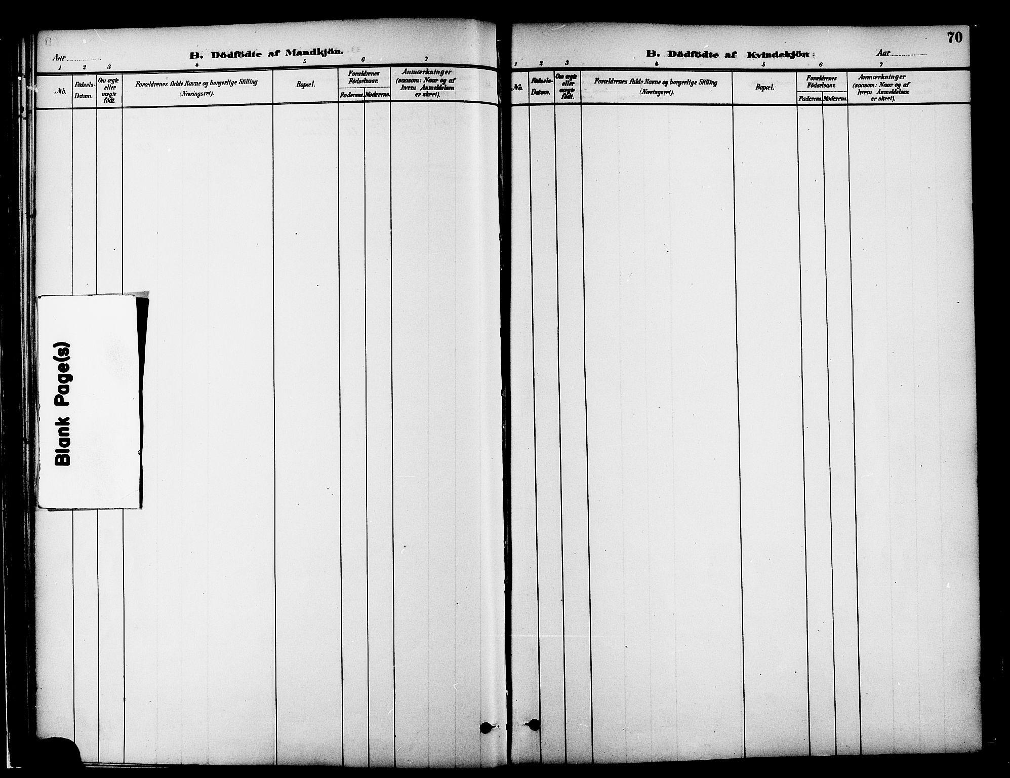 SAT, Ministerialprotokoller, klokkerbøker og fødselsregistre - Møre og Romsdal, 519/L0255: Ministerialbok nr. 519A14, 1884-1908, s. 70