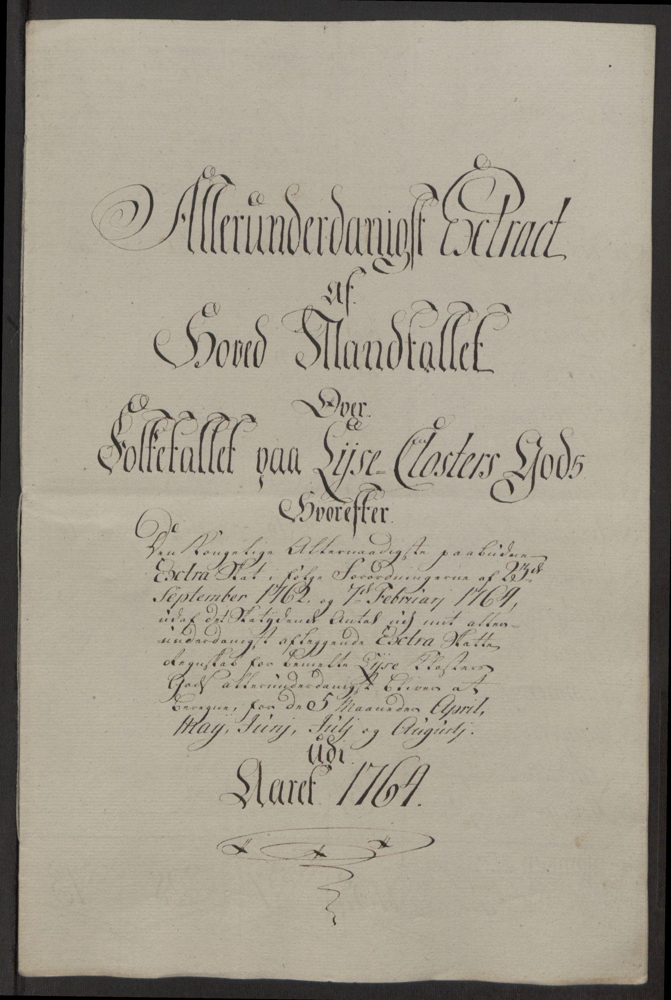 RA, Rentekammeret inntil 1814, Reviderte regnskaper, Fogderegnskap, R50/L3180: Ekstraskatten Lyse kloster, 1762-1783, s. 101