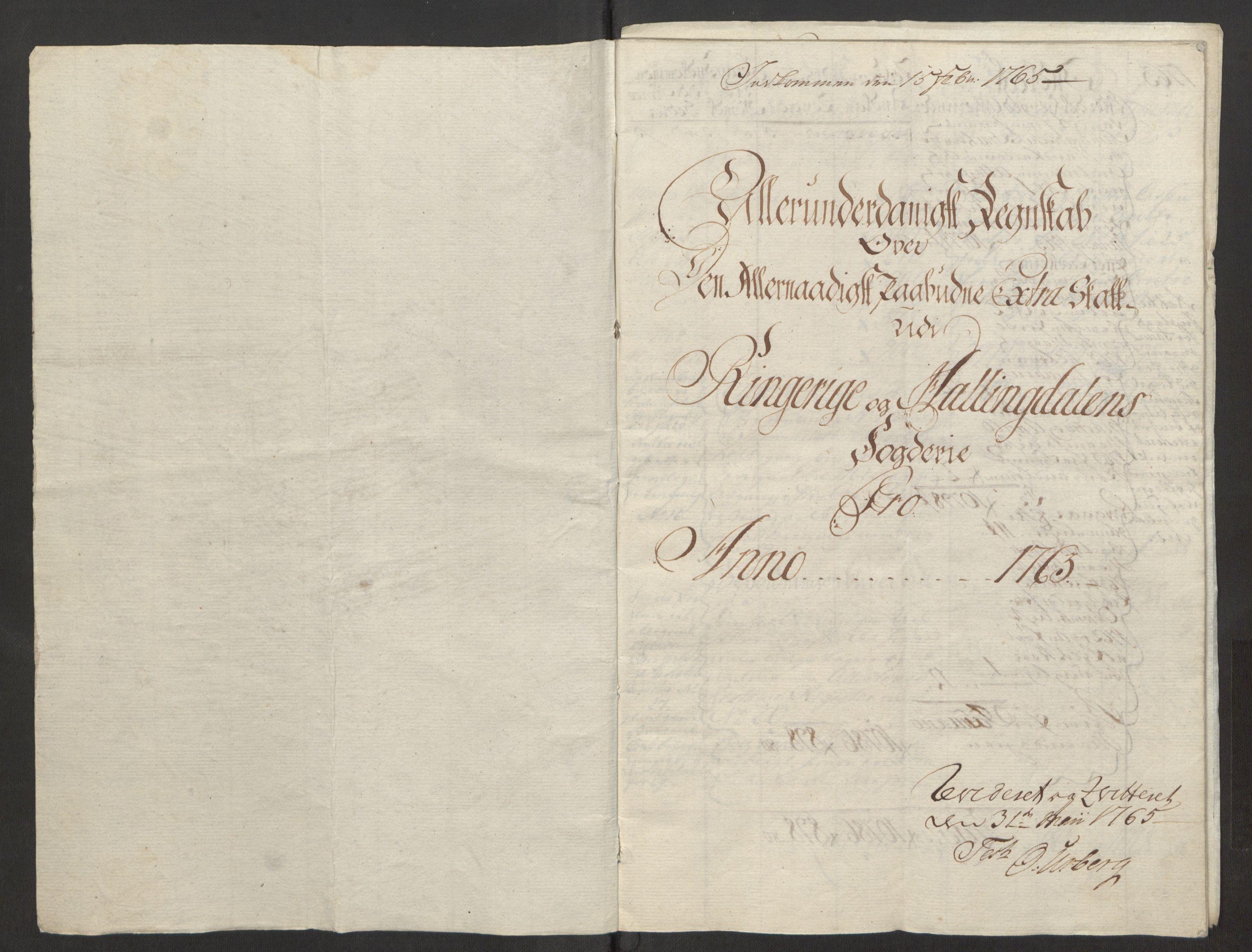 RA, Rentekammeret inntil 1814, Reviderte regnskaper, Fogderegnskap, R23/L1565: Ekstraskatten Ringerike og Hallingdal, 1762-1763, s. 341