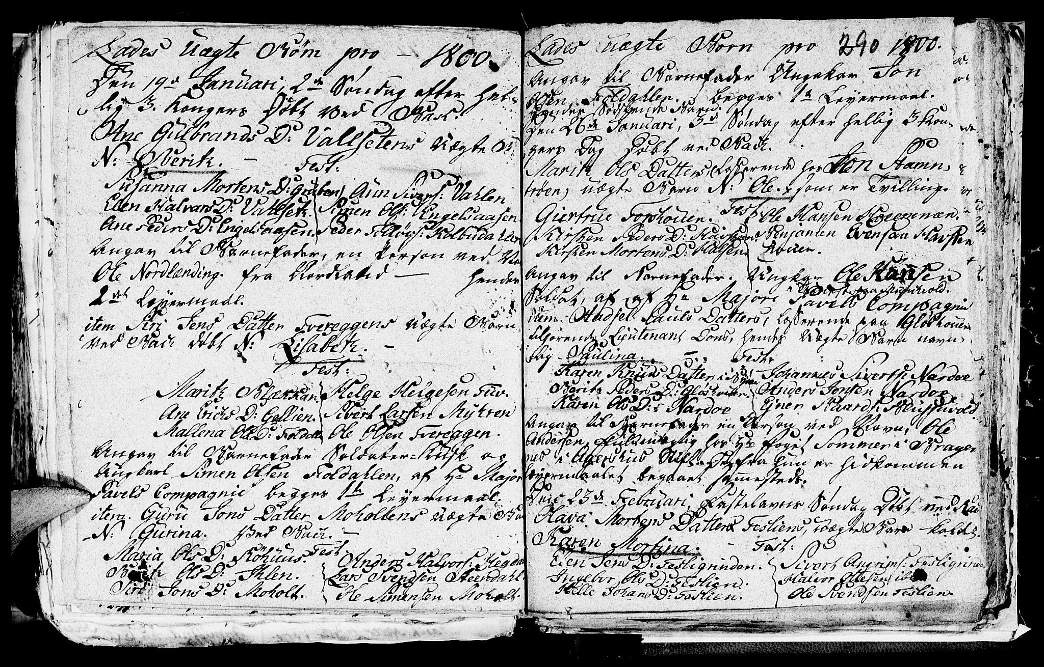 SAT, Ministerialprotokoller, klokkerbøker og fødselsregistre - Sør-Trøndelag, 606/L0305: Klokkerbok nr. 606C01, 1757-1819, s. 290