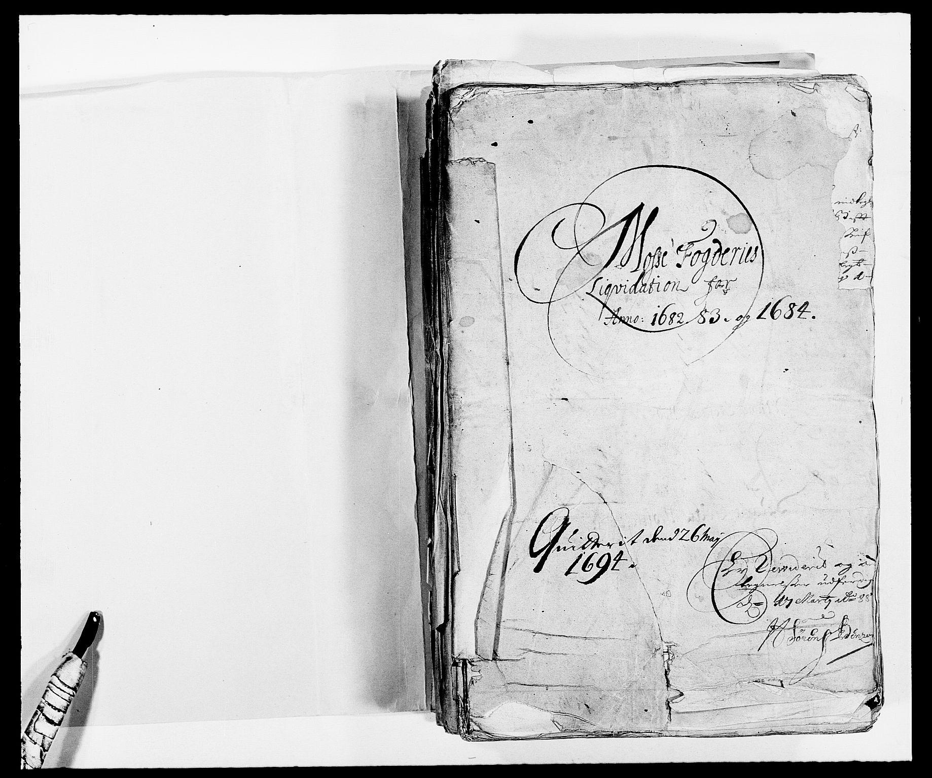 RA, Rentekammeret inntil 1814, Reviderte regnskaper, Fogderegnskap, R02/L0104: Fogderegnskap Moss og Verne kloster, 1682-1684, s. 2