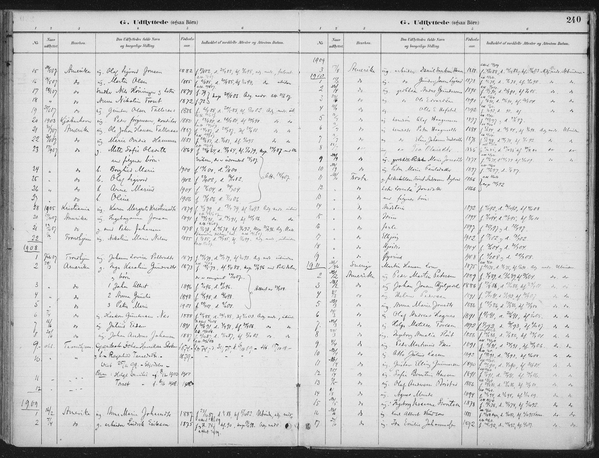 SAT, Ministerialprotokoller, klokkerbøker og fødselsregistre - Nord-Trøndelag, 709/L0082: Ministerialbok nr. 709A22, 1896-1916, s. 240
