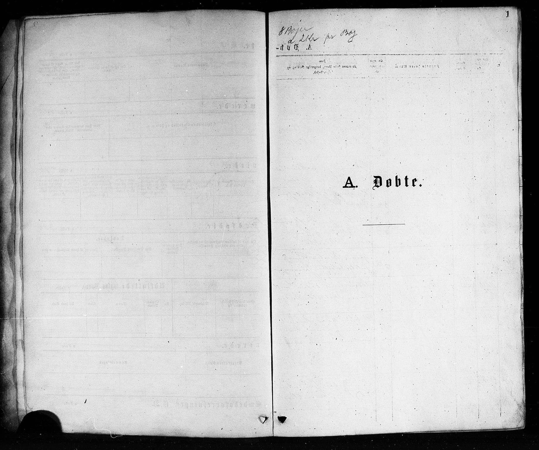 SAKO, Porsgrunn kirkebøker , G/Ga/L0003: Klokkerbok nr. I 3, 1877-1915, s. 1