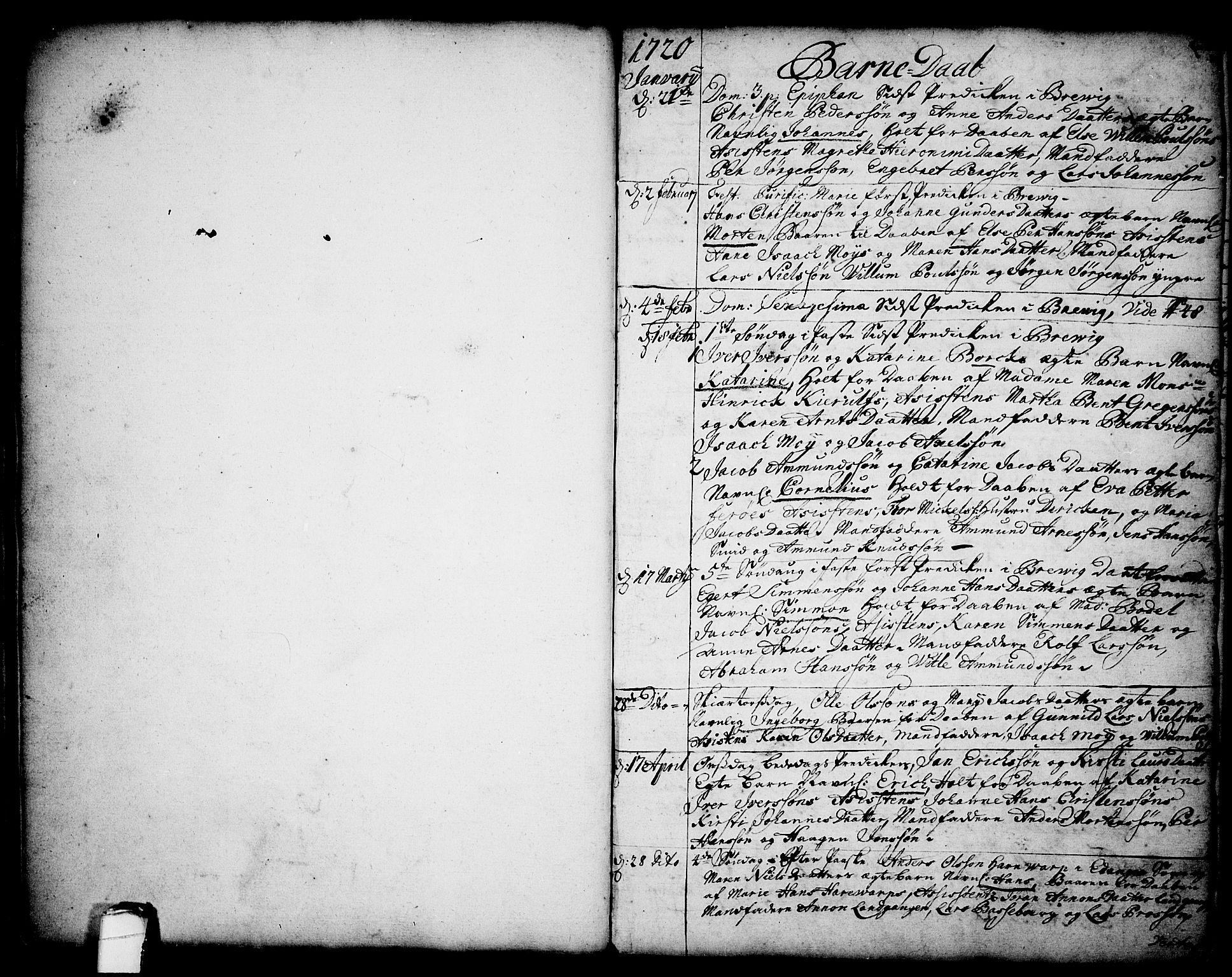 SAKO, Brevik kirkebøker, F/Fa/L0002: Ministerialbok nr. 2, 1720-1764, s. 24