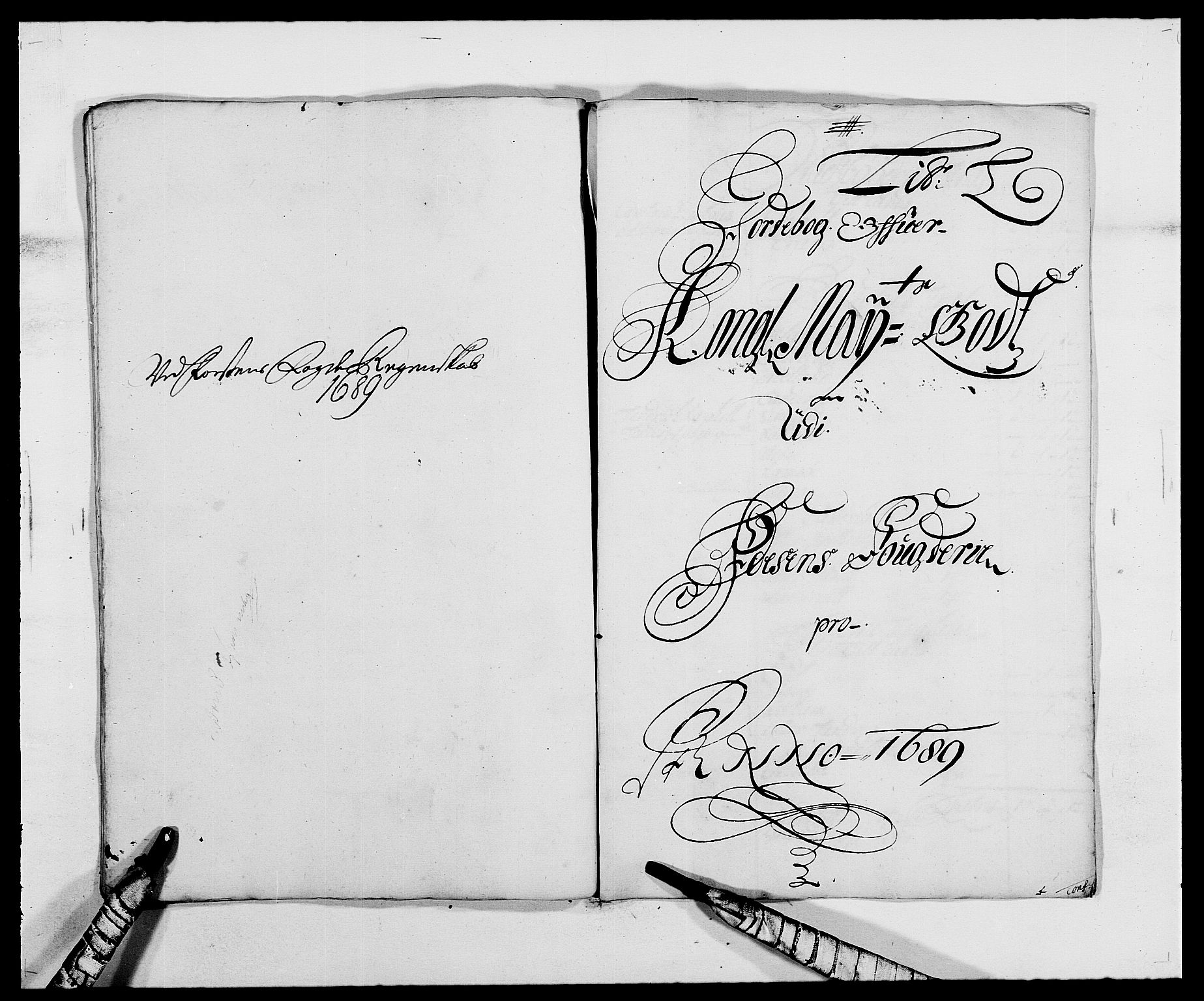 RA, Rentekammeret inntil 1814, Reviderte regnskaper, Fogderegnskap, R57/L3847: Fogderegnskap Fosen, 1689, s. 95