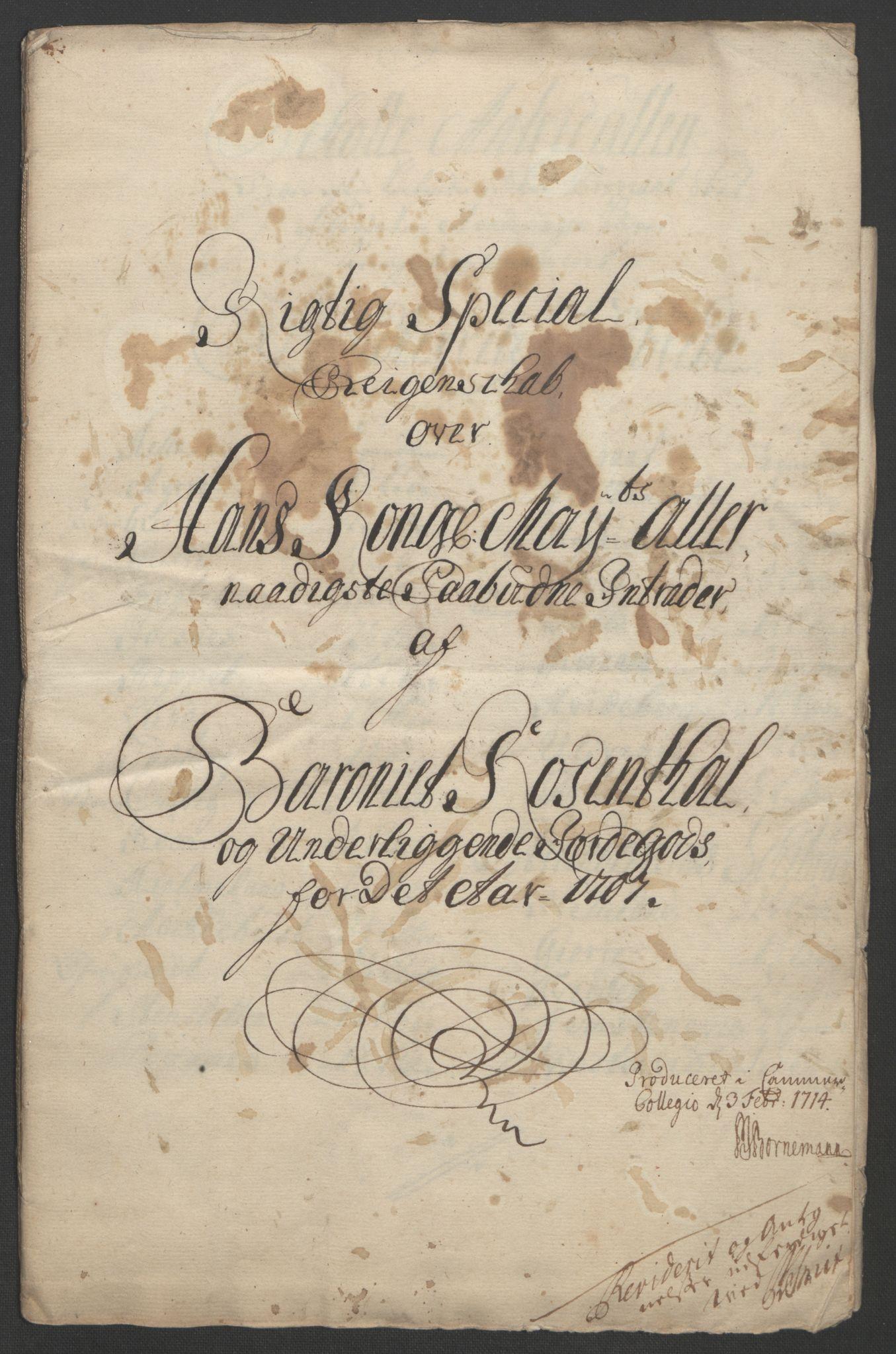 RA, Rentekammeret inntil 1814, Reviderte regnskaper, Fogderegnskap, R49/L3138: Fogderegnskap Rosendal Baroni, 1691-1714, s. 191