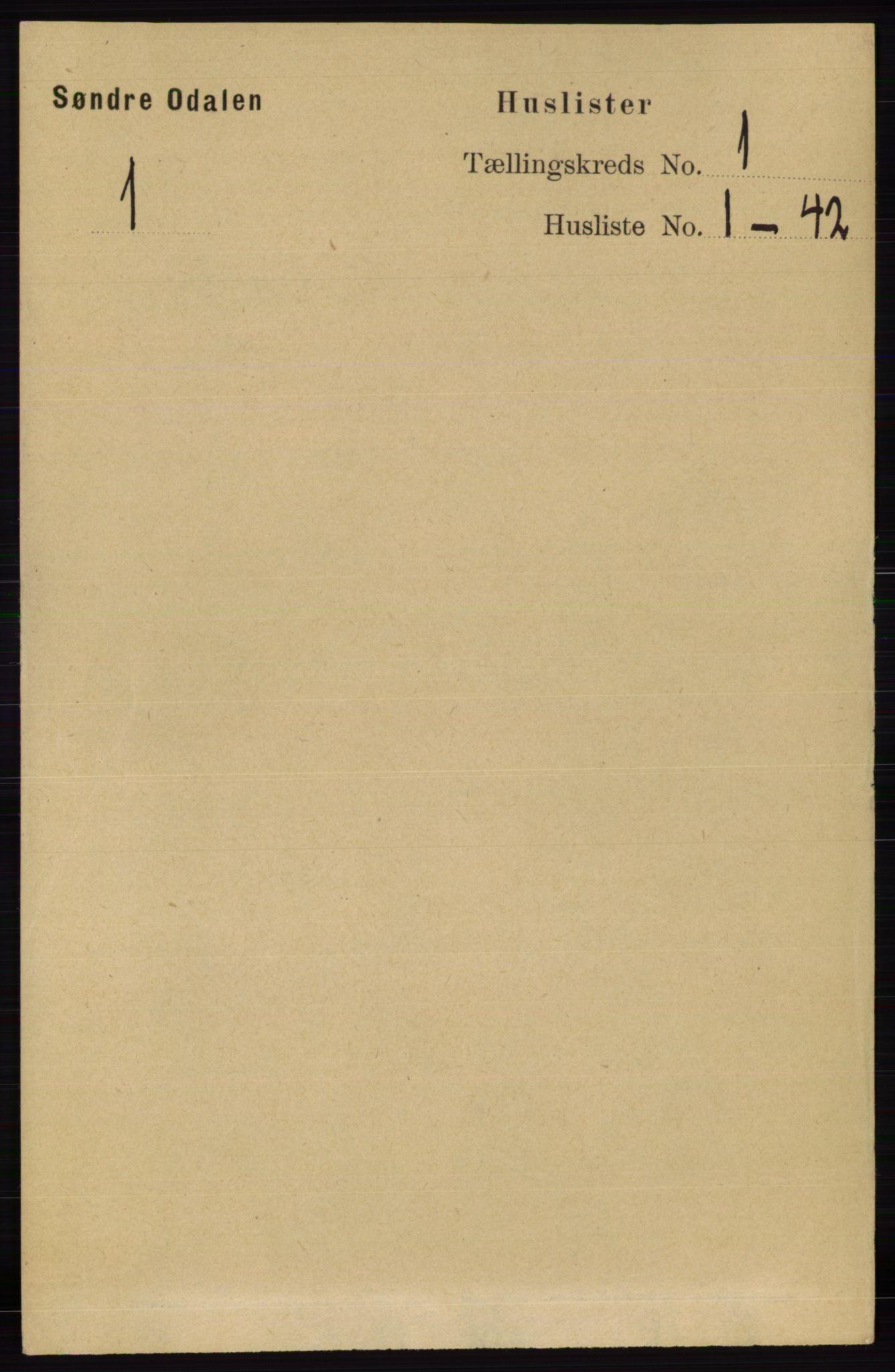 RA, Folketelling 1891 for 0419 Sør-Odal herred, 1891, s. 55