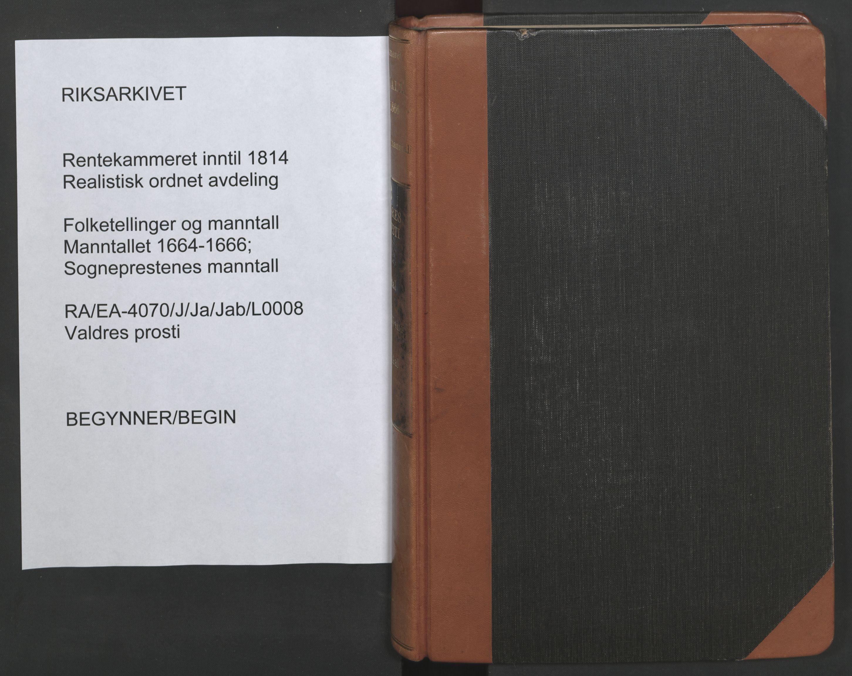 RA, Sogneprestenes manntall 1664-1666, nr. 8: Valdres prosti, 1664-1666