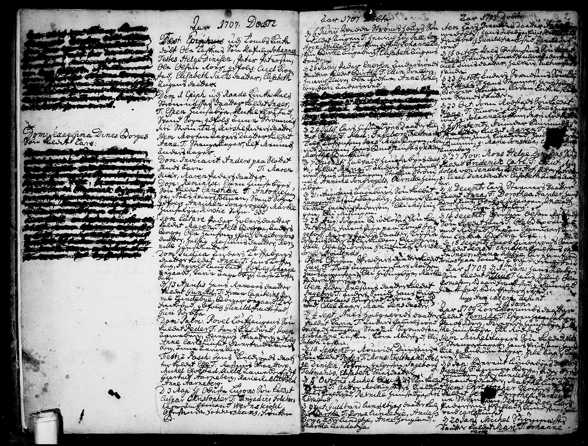 SAO, Råde prestekontor kirkebøker, F/Fa/L0001: Ministerialbok nr. 1, 1707-1762, s. 2