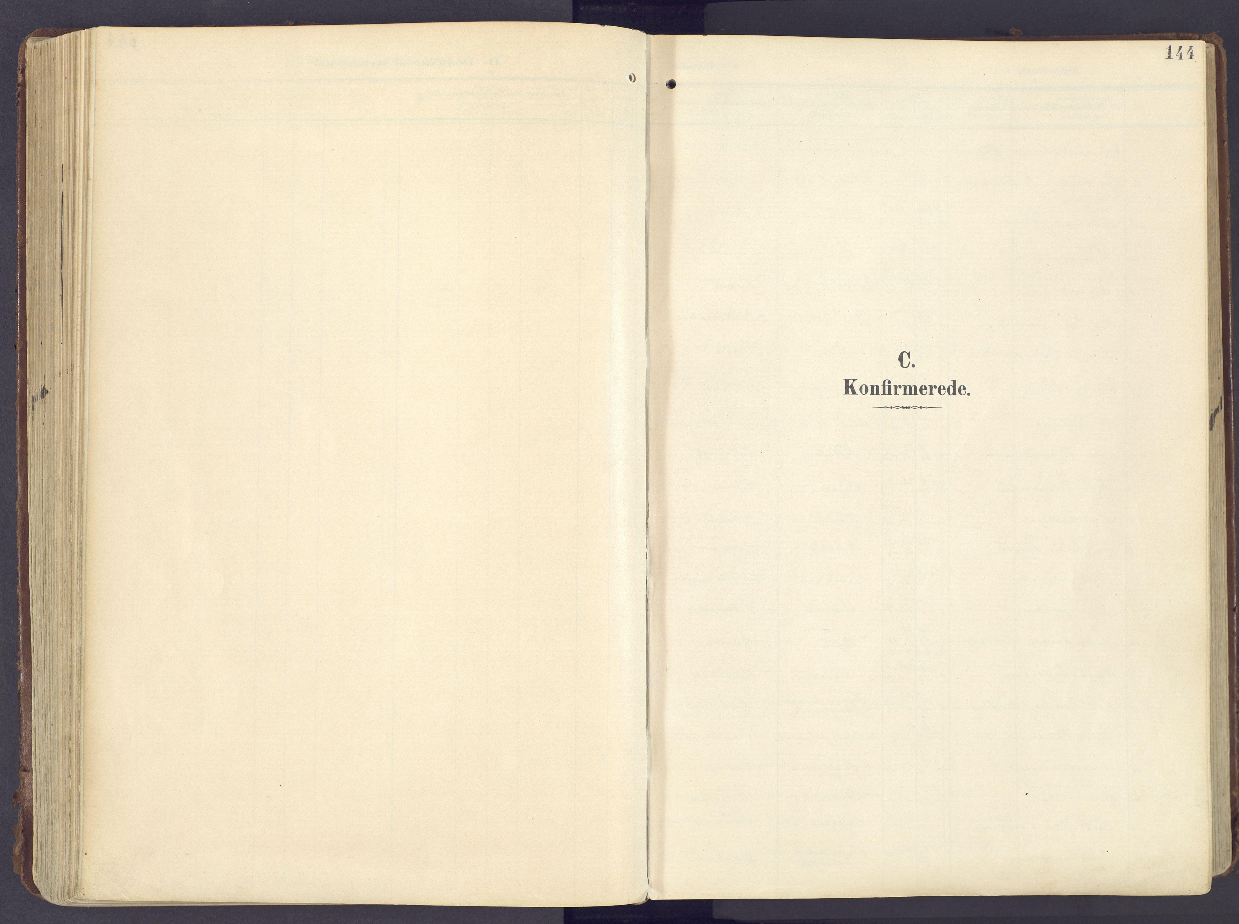 SAH, Lunner prestekontor, H/Ha/Haa/L0001: Ministerialbok nr. 1, 1907-1922, s. 144