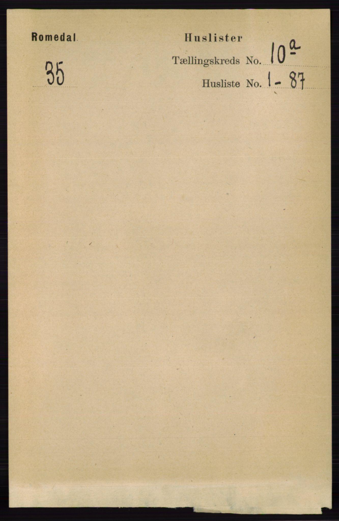 RA, Folketelling 1891 for 0416 Romedal herred, 1891, s. 4721