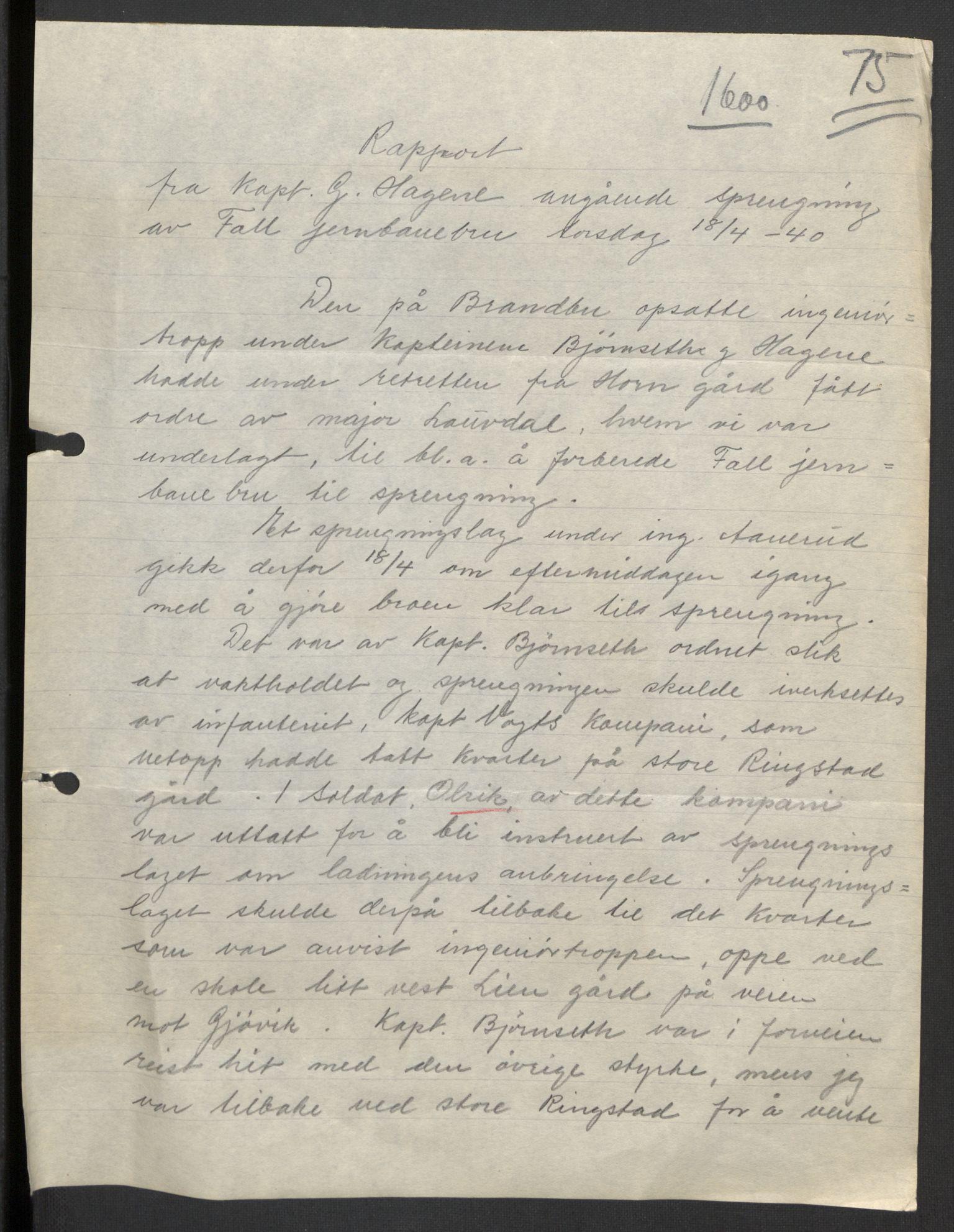 RA, Forsvaret, Forsvarets krigshistoriske avdeling, Y/Yb/L0104: II-C-11-430  -  4. Divisjon., 1940, s. 169