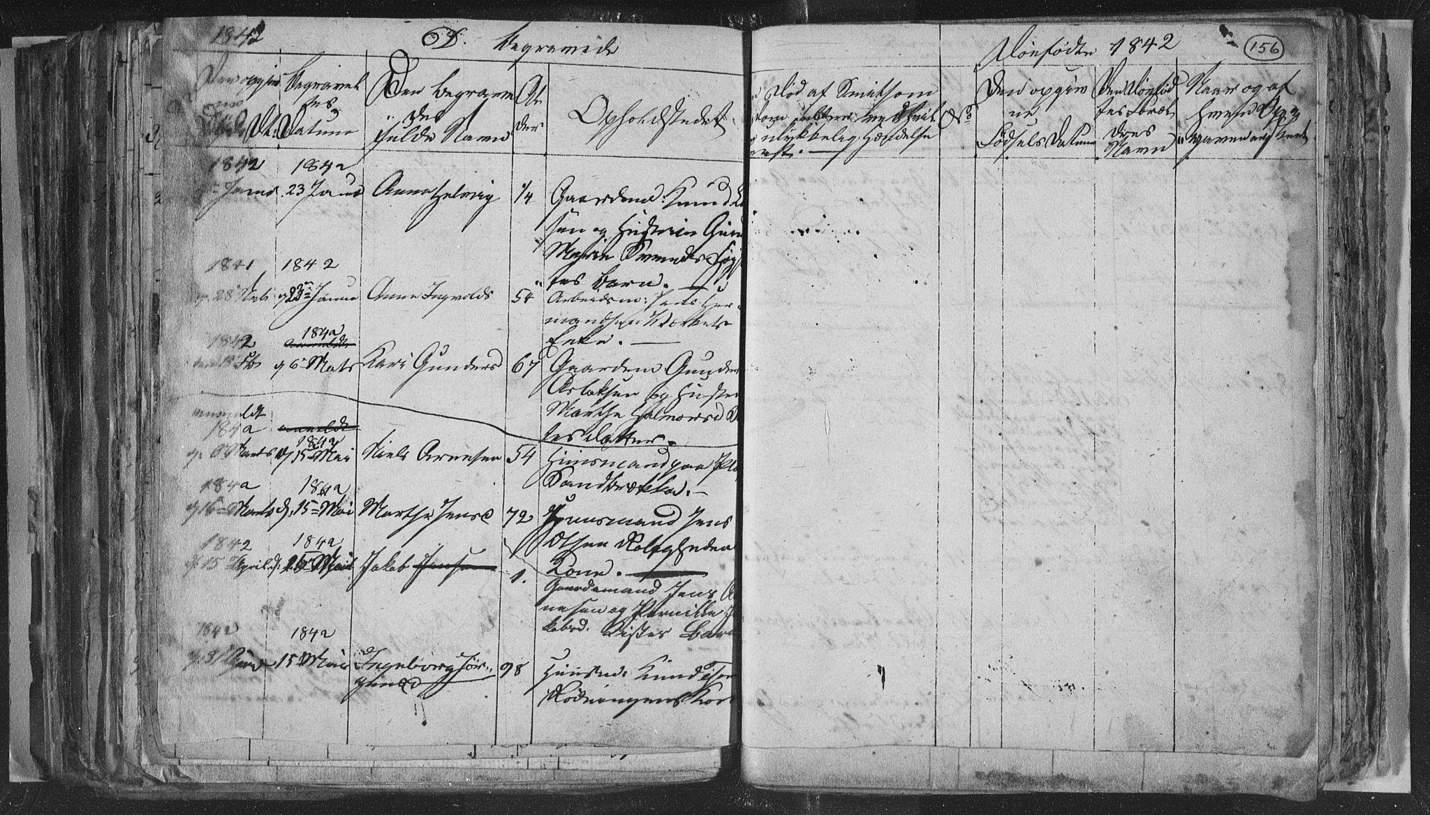 SAKO, Siljan kirkebøker, G/Ga/L0001: Klokkerbok nr. 1, 1827-1847, s. 156