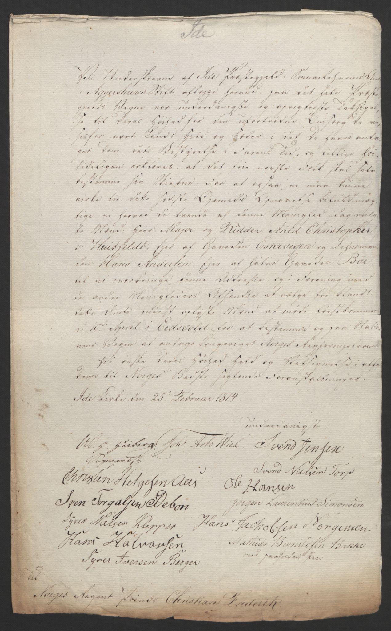 RA, Statsrådssekretariatet, D/Db/L0007: Fullmakter for Eidsvollsrepresentantene i 1814. , 1814, s. 152