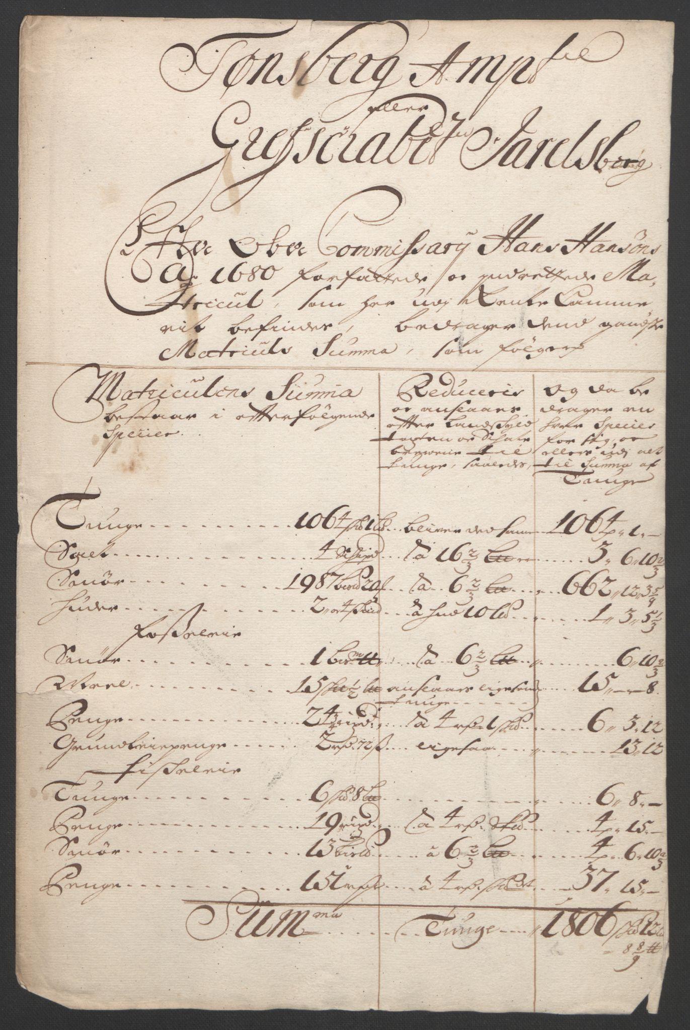 RA, Rentekammeret inntil 1814, Reviderte regnskaper, Fogderegnskap, R32/L1864: Fogderegnskap Jarlsberg grevskap, 1691, s. 19