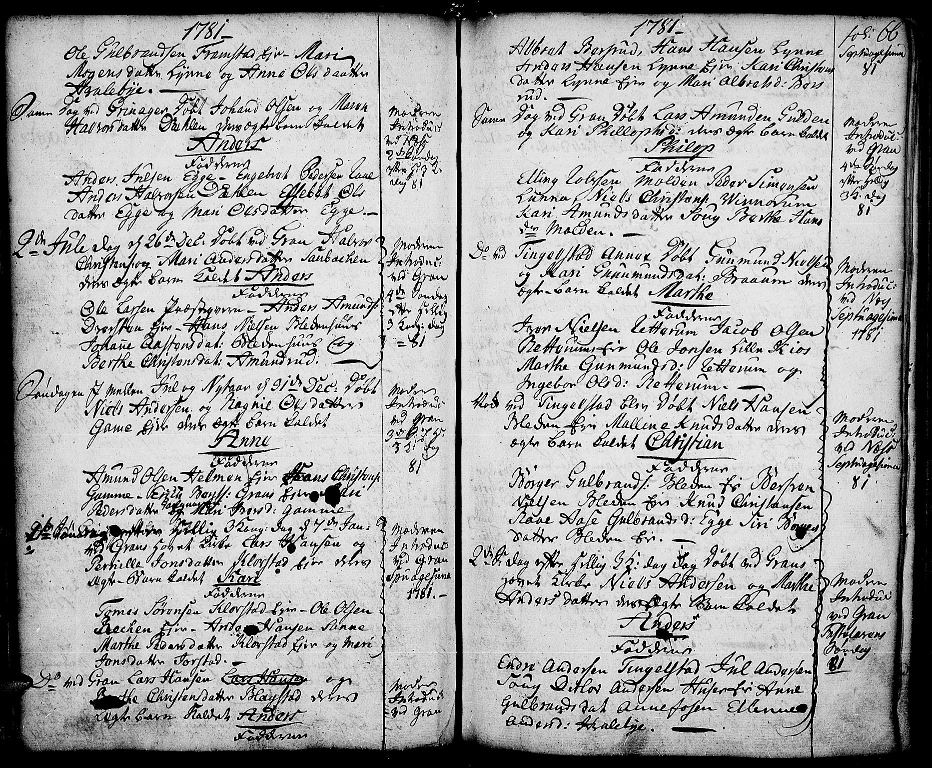 SAH, Gran prestekontor, Ministerialbok nr. 5, 1776-1788, s. 66