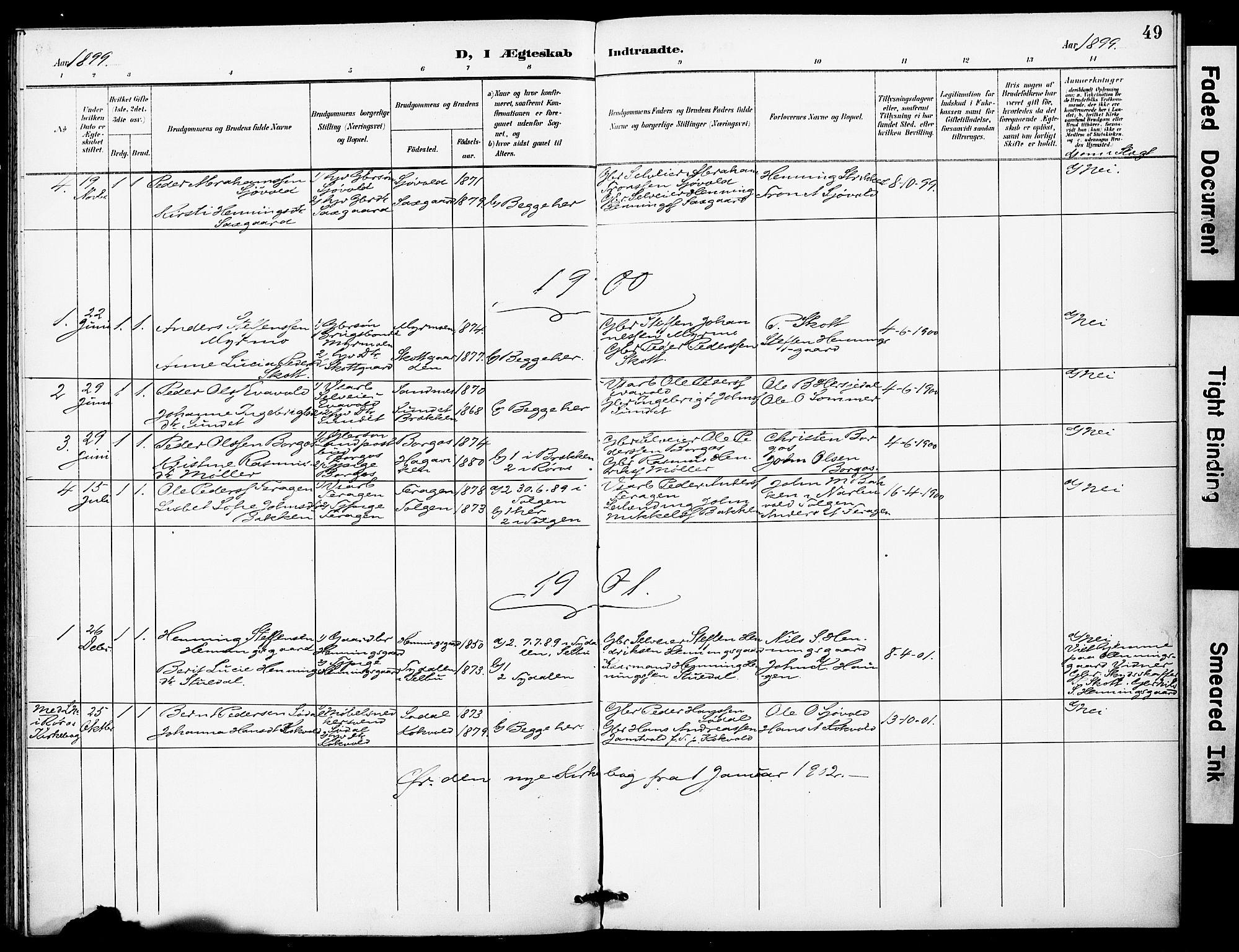 SAT, Ministerialprotokoller, klokkerbøker og fødselsregistre - Sør-Trøndelag, 683/L0948: Ministerialbok nr. 683A01, 1891-1902, s. 49