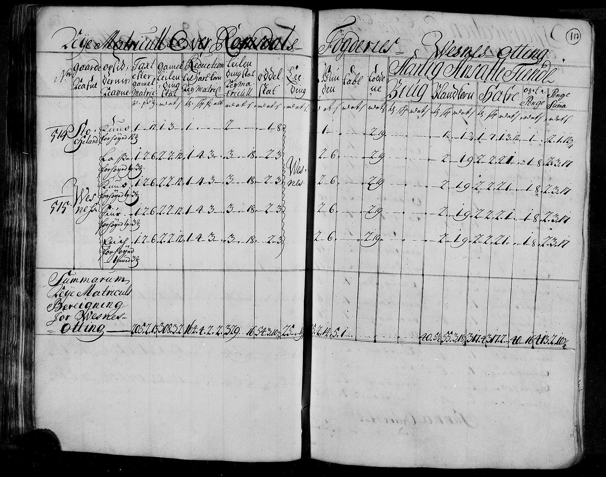 RA, Rentekammeret inntil 1814, Realistisk ordnet avdeling, N/Nb/Nbf/L0153: Romsdal matrikkelprotokoll, 1724, s. 120