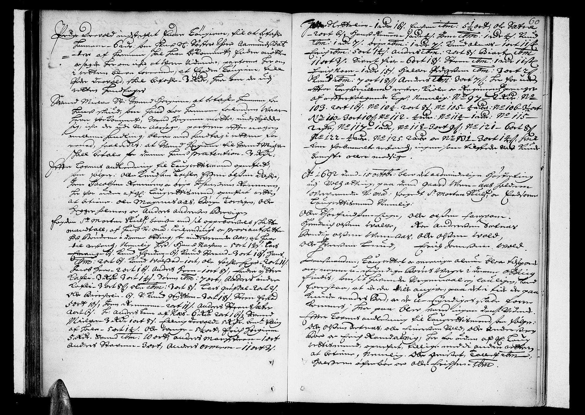SAT, Romsdal sorenskriveri, 1/1A/L0002: Tingbok, 1690-1693, s. 59b-60a